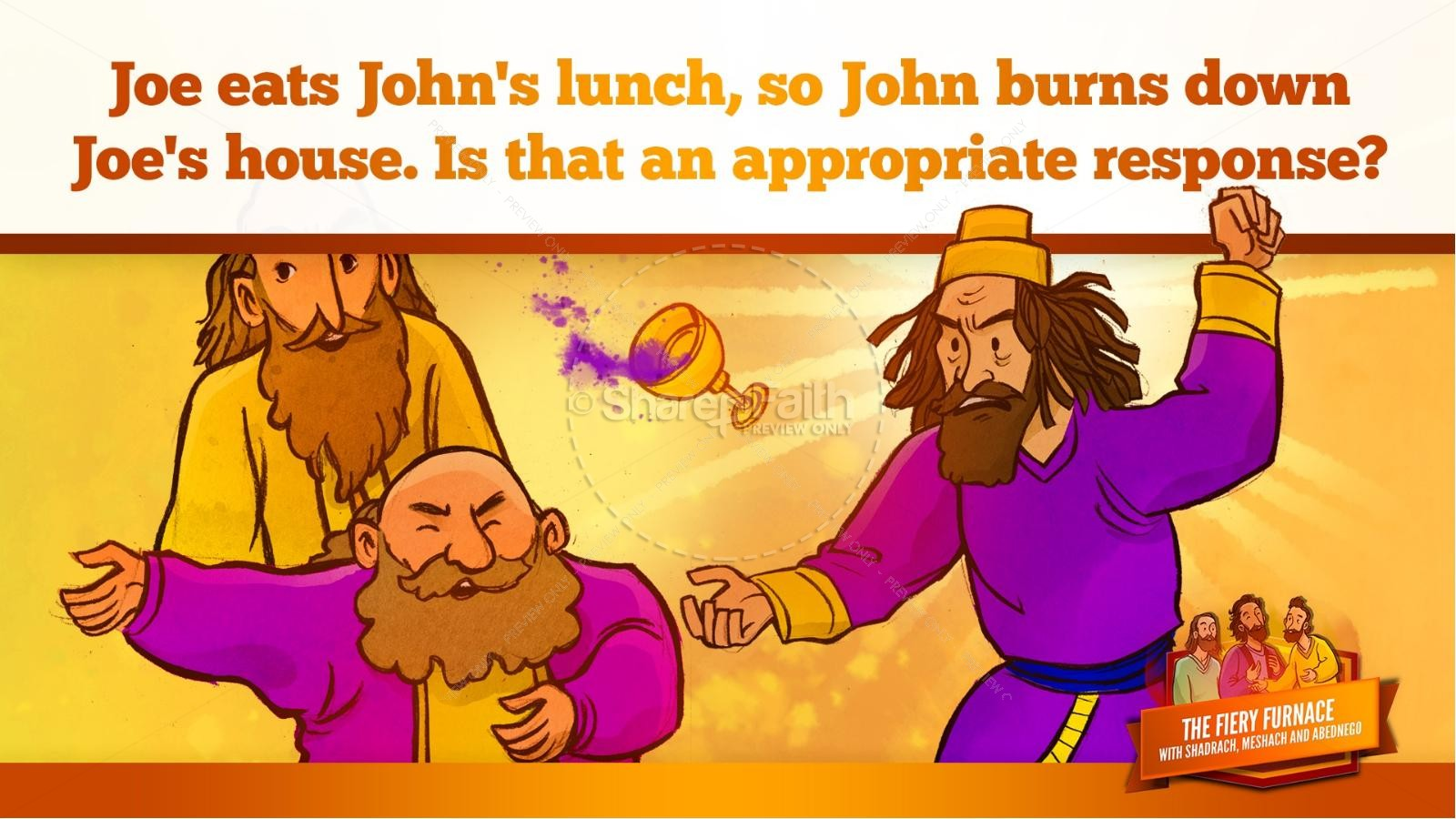 The Fiery Furnace with Shadrach, Meshach and Abednego Kids Bible Story | slide 42