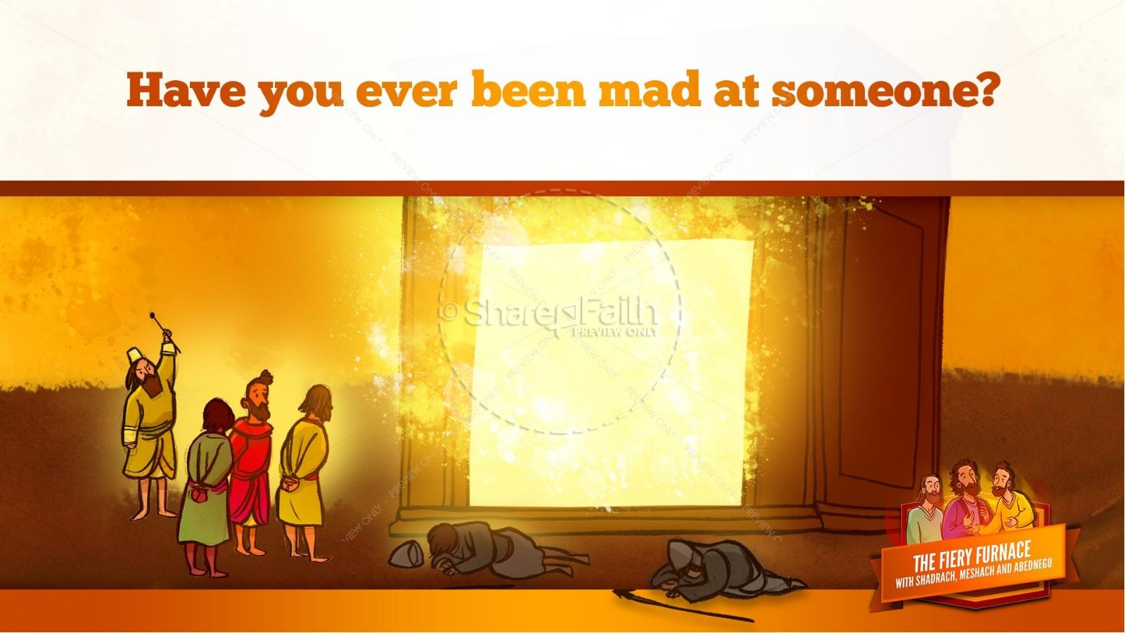 The Fiery Furnace with Shadrach, Meshach and Abednego Kids Bible Story | slide 50