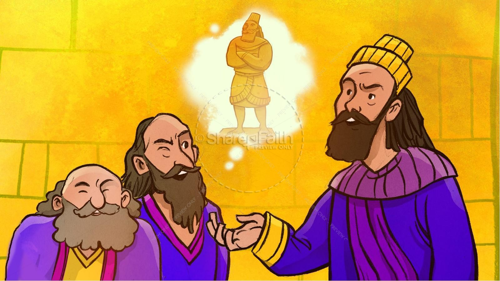The Fiery Furnace with Shadrach, Meshach and Abednego Kids Bible Story | slide 6