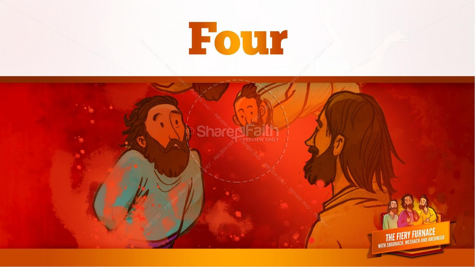 The Fiery Furnace with Shadrach, Meshach and Abednego Kids Bible Story | slide 53