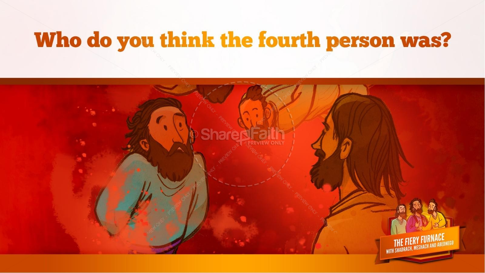 The Fiery Furnace with Shadrach, Meshach and Abednego Kids Bible Story | slide 54
