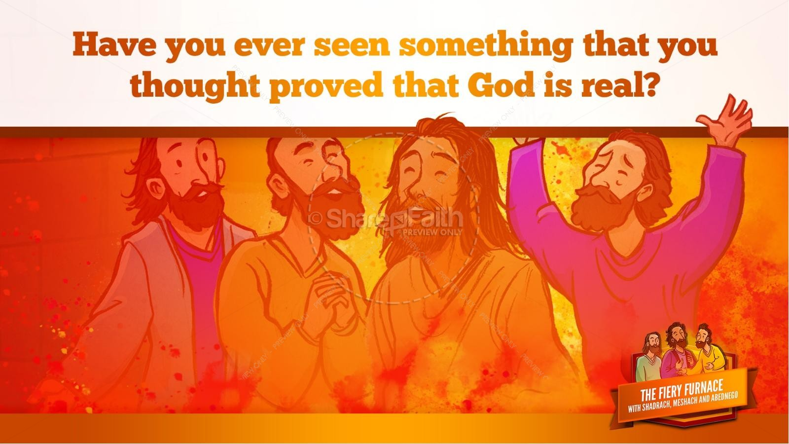 The Fiery Furnace with Shadrach, Meshach and Abednego Kids Bible Story | slide 58