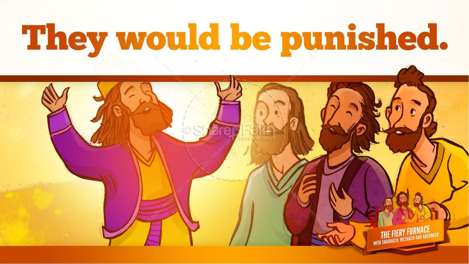 The Fiery Furnace with Shadrach, Meshach and Abednego Kids Bible Story | slide 61