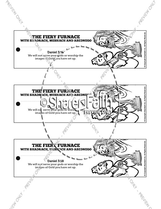Bible Story The Fiery Furnace Coloring Pages