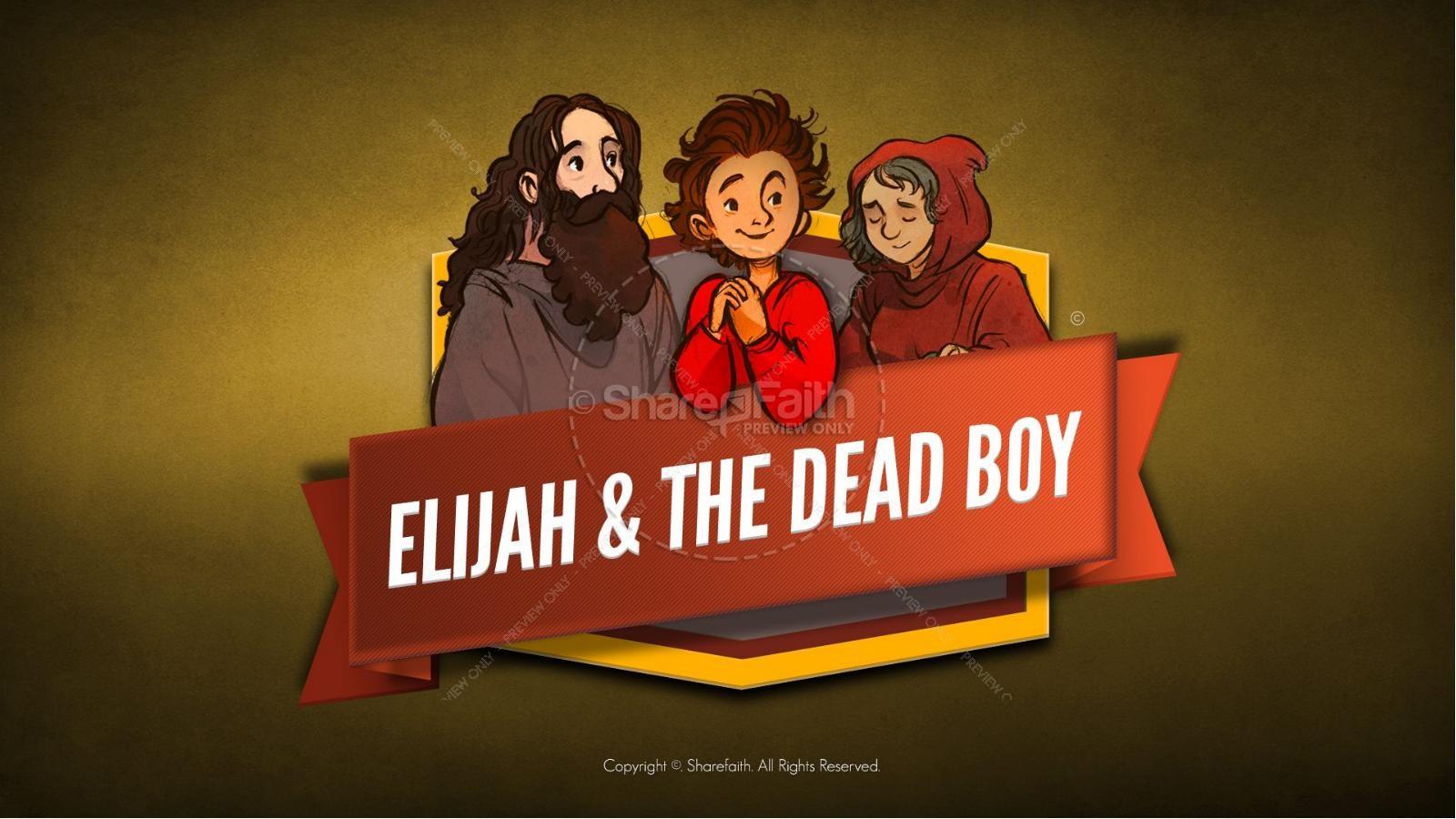 1 Kings 17 Elijah and the Widow Kids Bible Story | slide 1