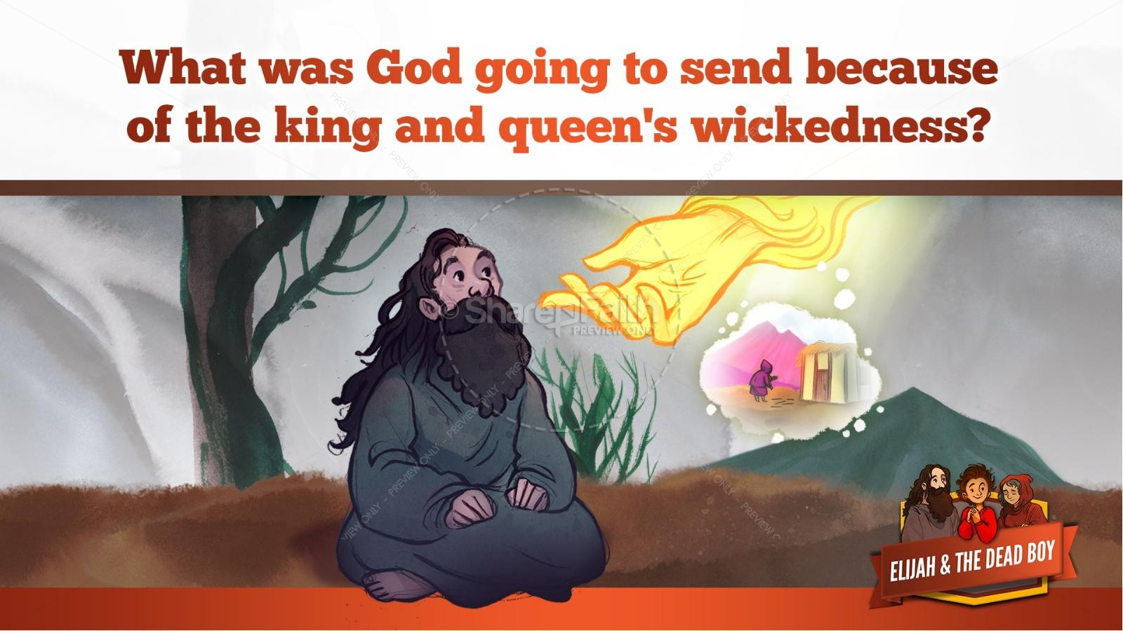1 Kings 17 Elijah and the Widow Kids Bible Story