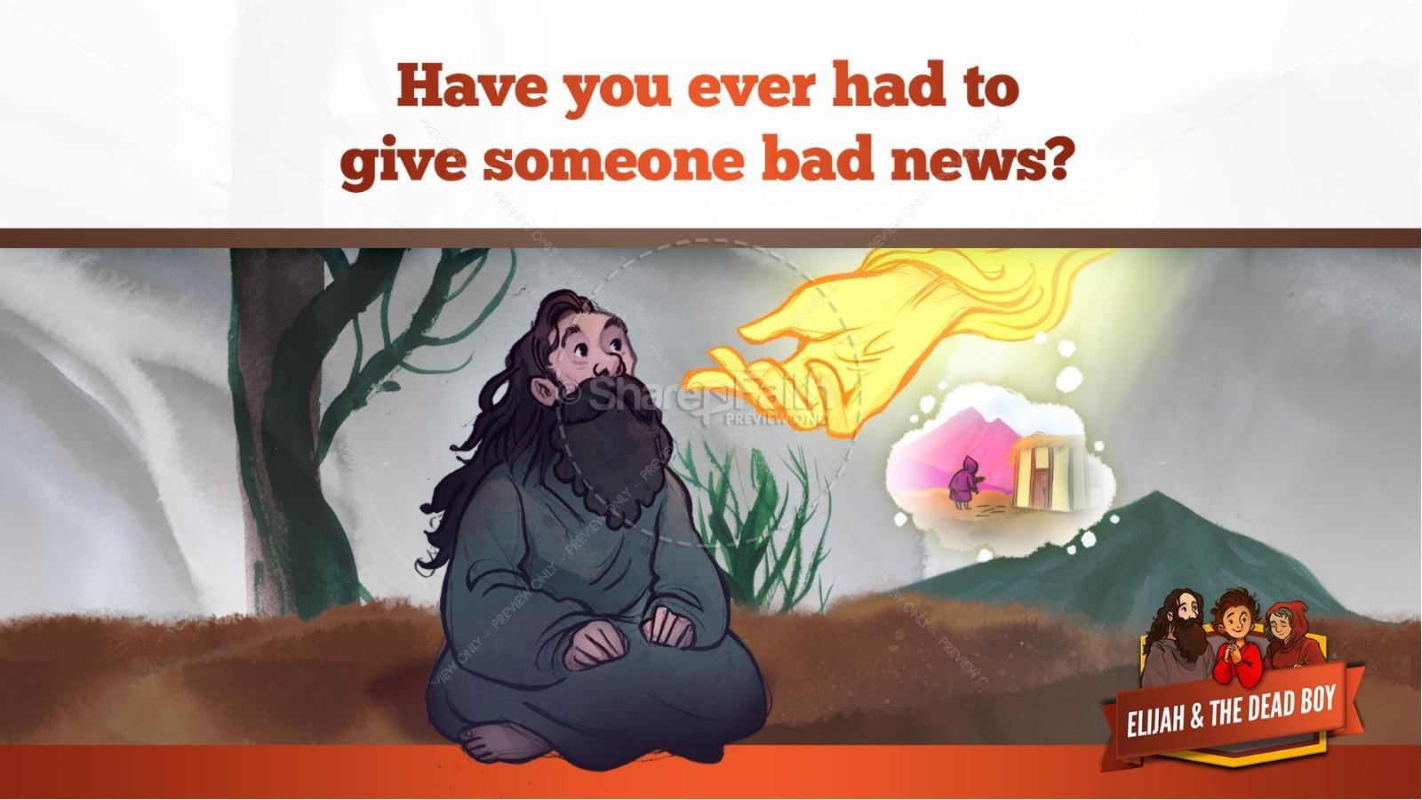 1 Kings 17 Elijah and the Widow Kids Bible Story | slide 13