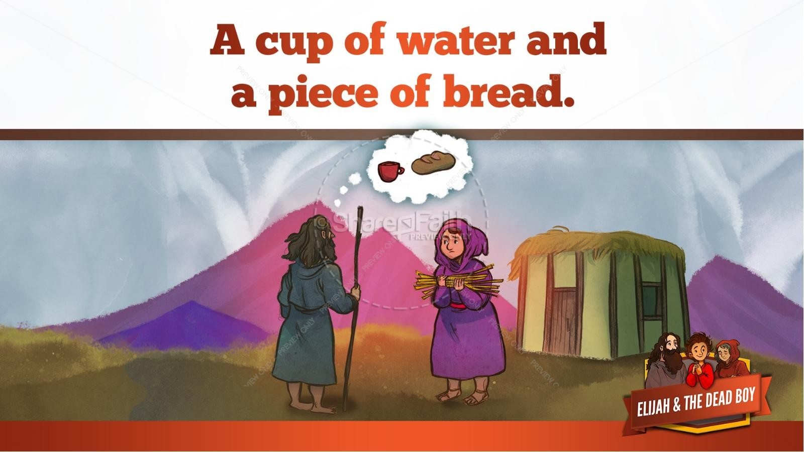 1 Kings 17 Elijah and the Widow Kids Bible Story | slide 16
