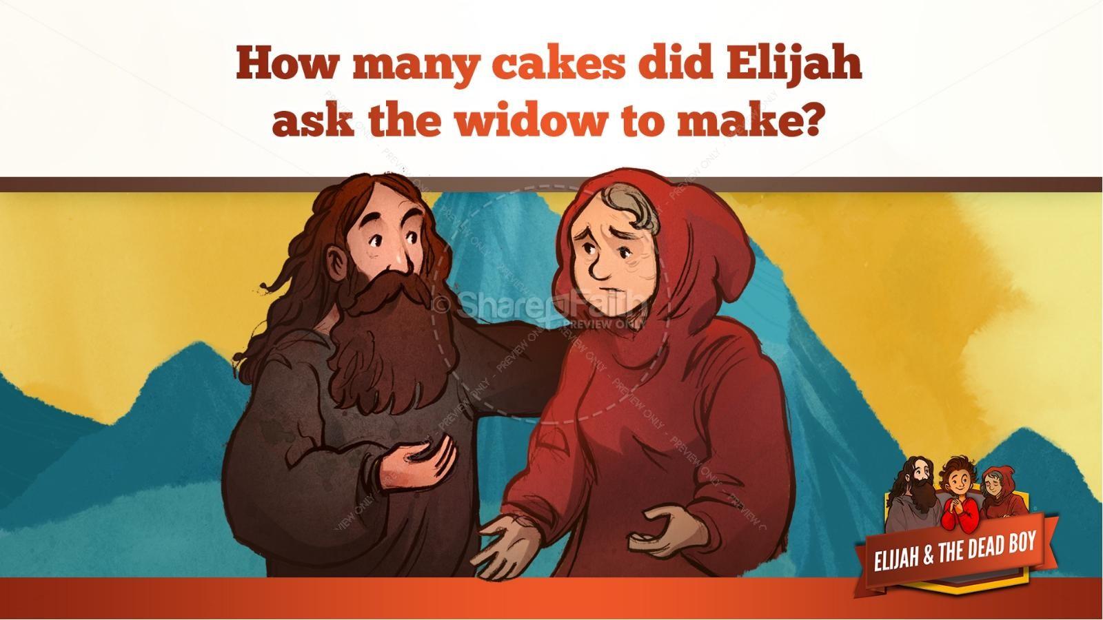 1 Kings 17 Elijah and the Widow Kids Bible Story | slide 19
