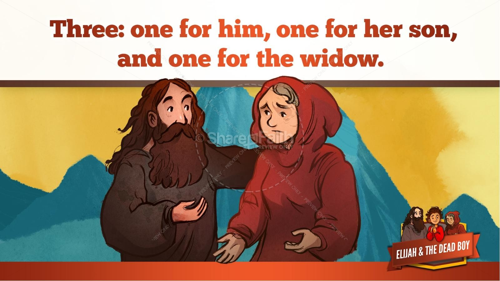 1 Kings 17 Elijah and the Widow Kids Bible Story | slide 20