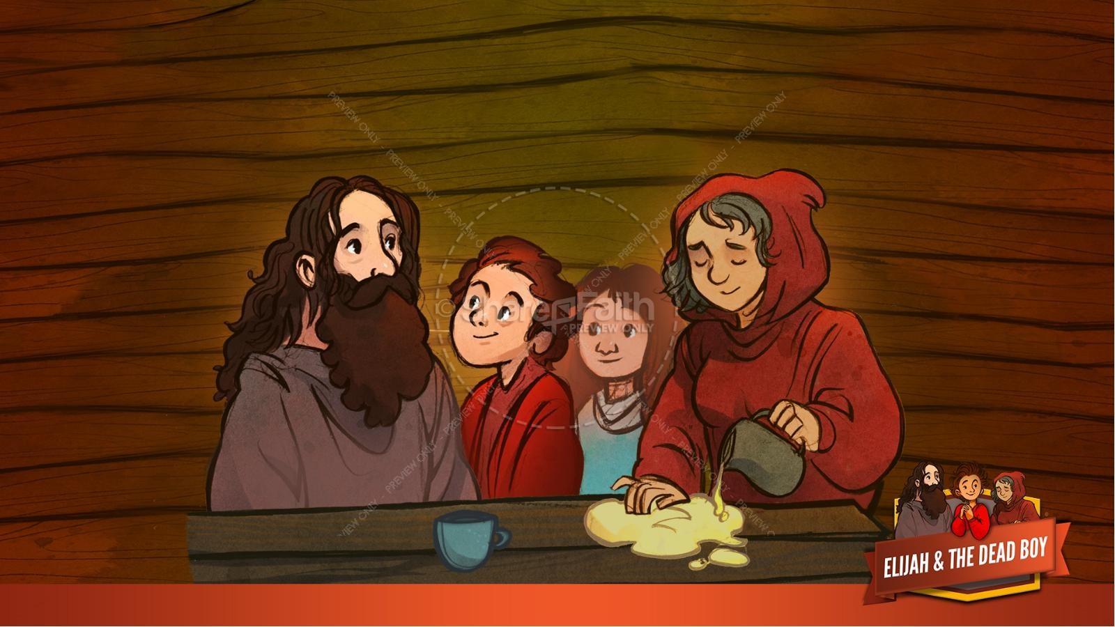 1 Kings 17 Elijah and the Widow Kids Bible Story | slide 22