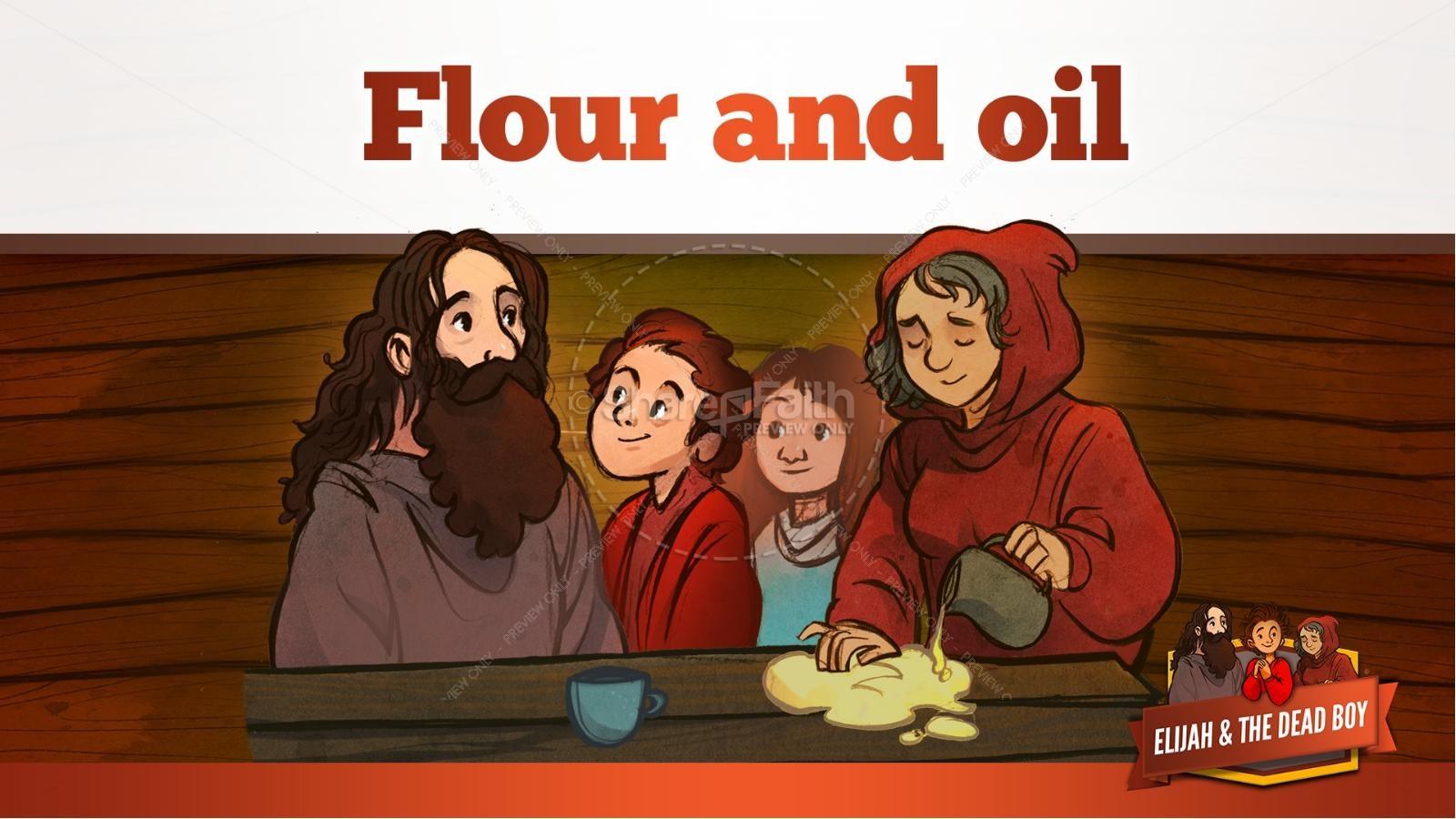 1 Kings 17 Elijah and the Widow Kids Bible Story | slide 24
