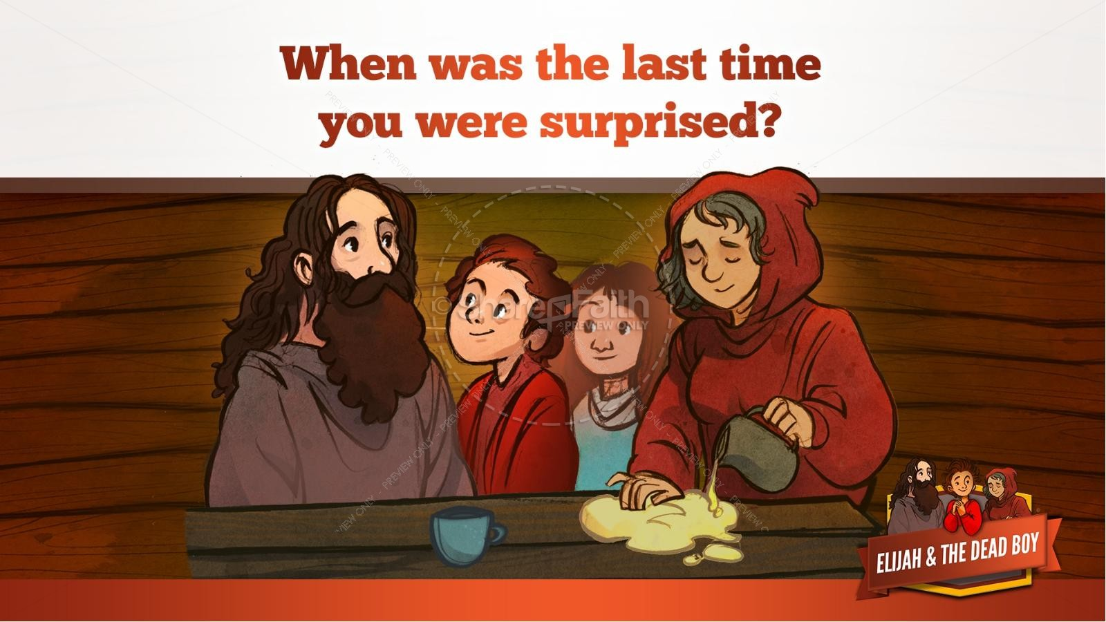 1 Kings 17 Elijah and the Widow Kids Bible Story | slide 25