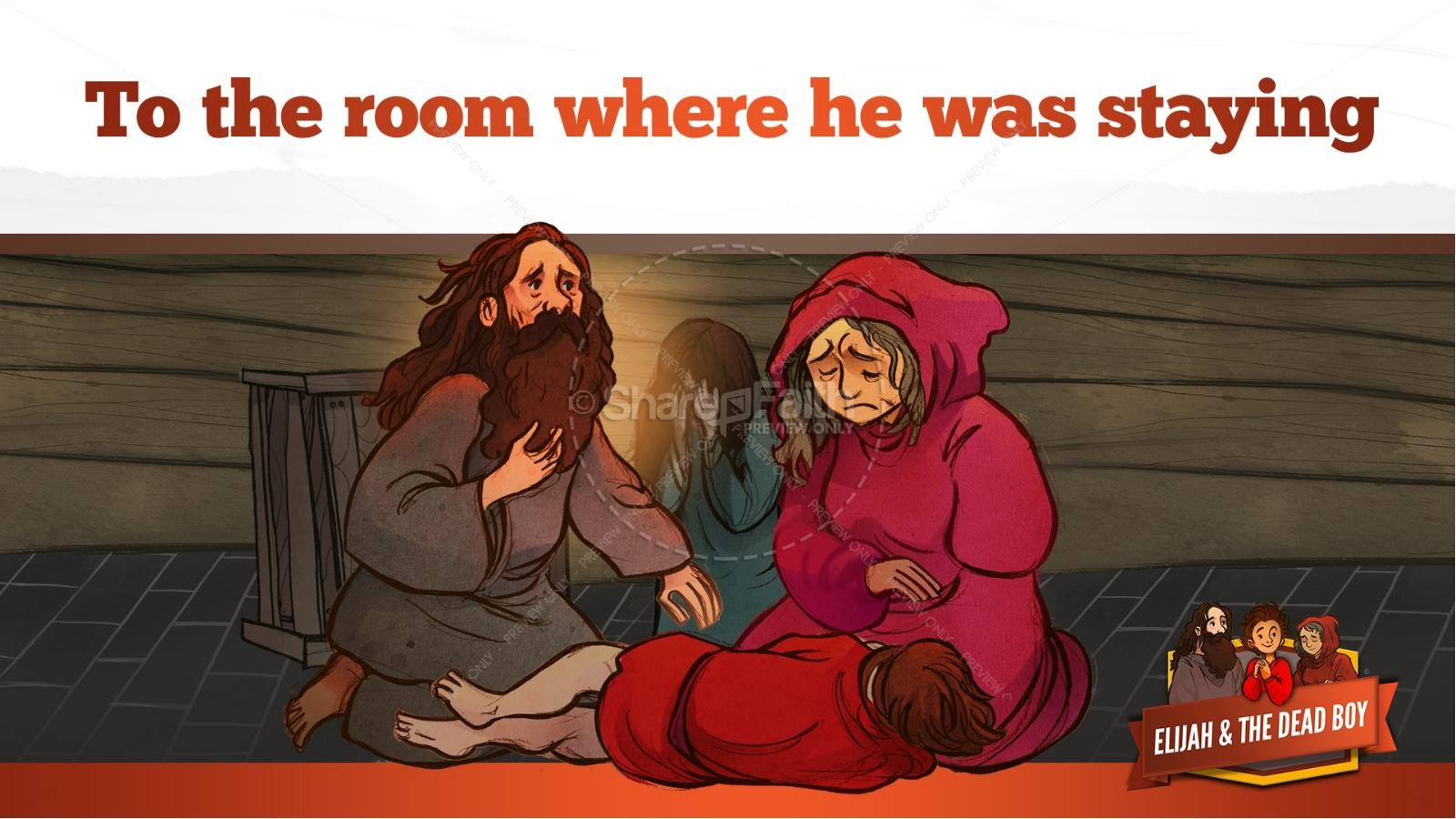 1 Kings 17 Elijah and the Widow Kids Bible Story | slide 28