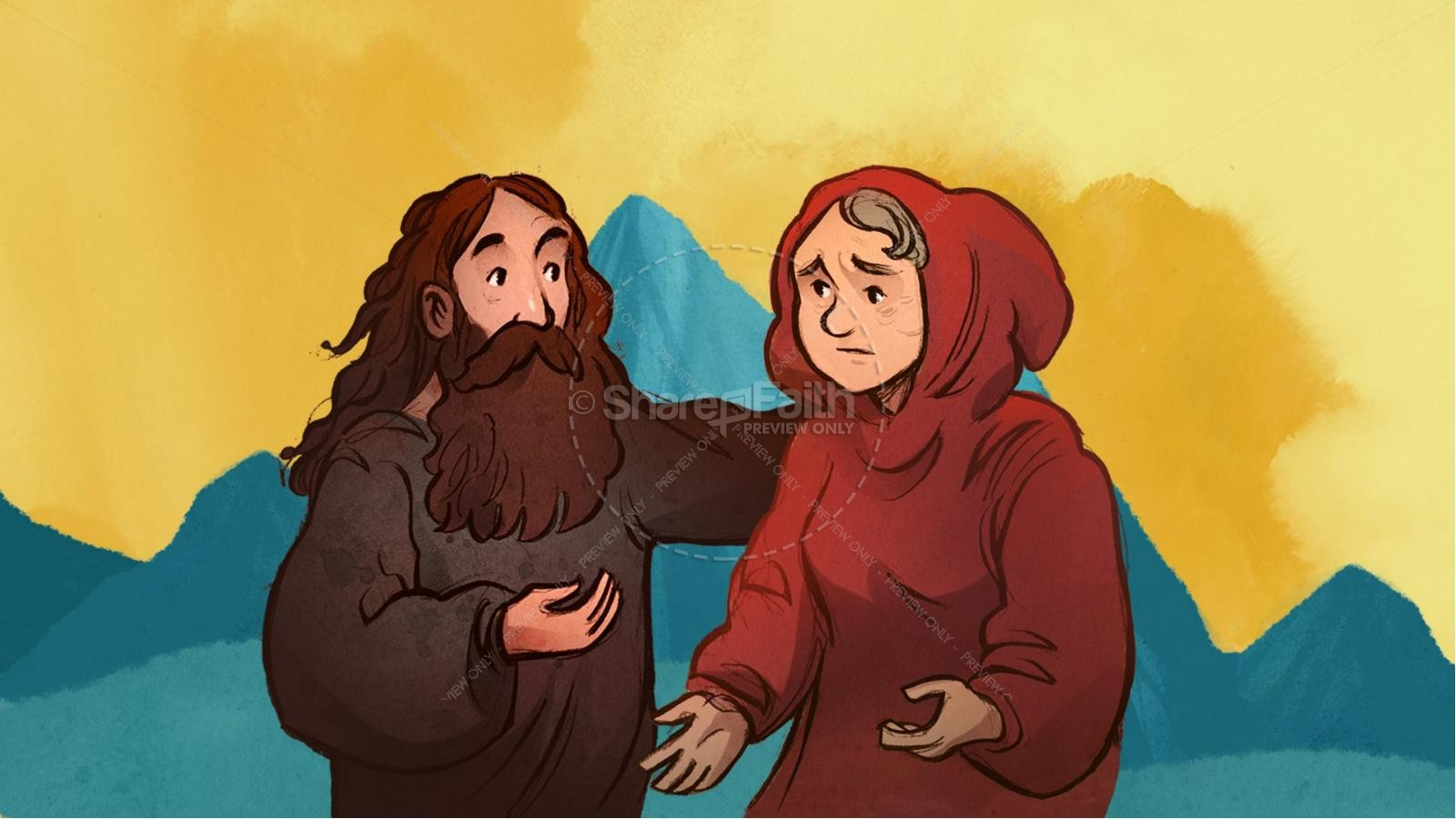 1 Kings 17 Elijah and the Widow Kids Bible Story