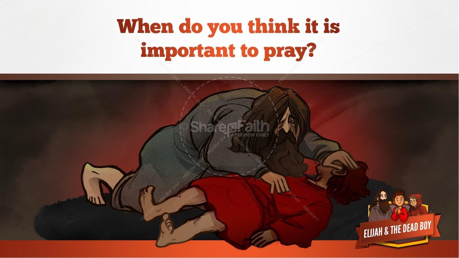 1 Kings 17 Elijah and the Widow Kids Bible Story | slide 33