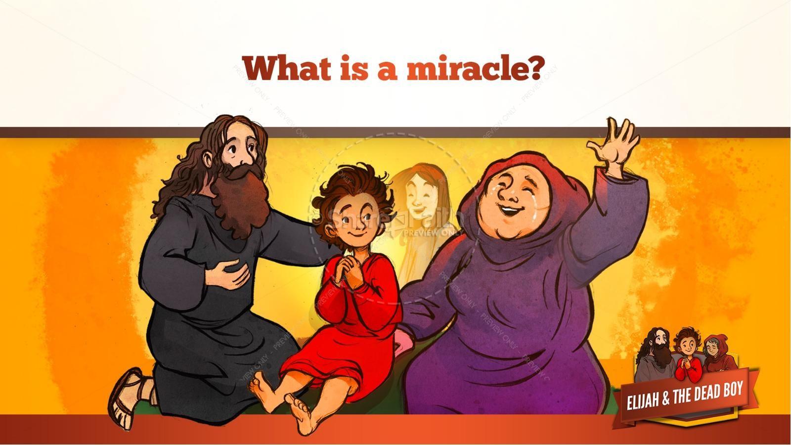 1 Kings 17 Elijah and the Widow Kids Bible Story | slide 37