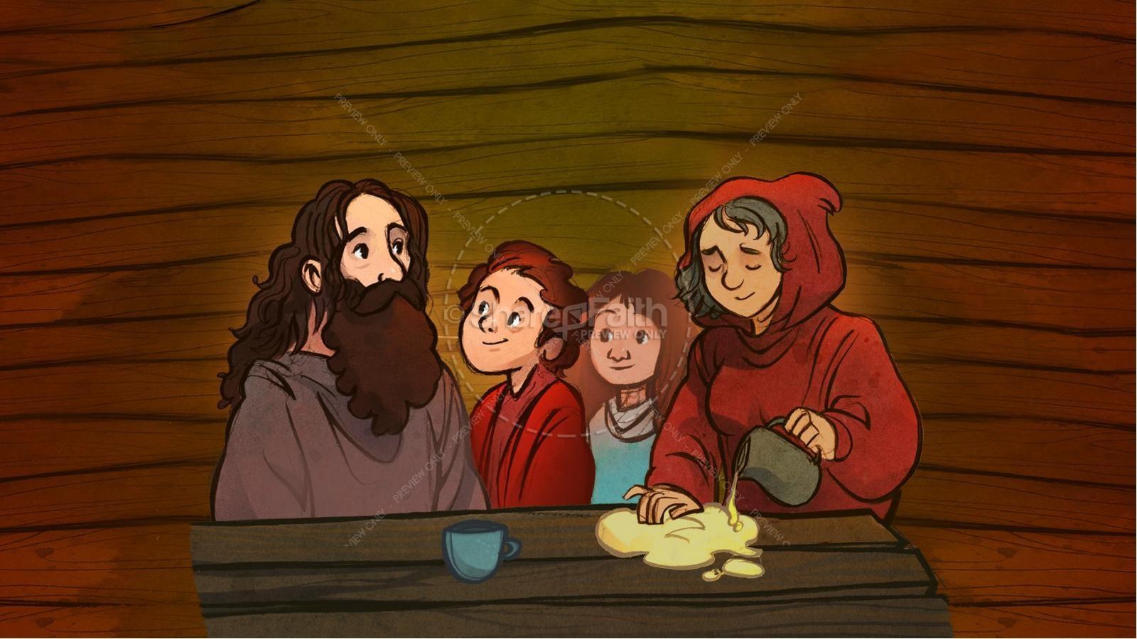 1 Kings 17 Elijah and the Widow Kids Bible Story | slide 5