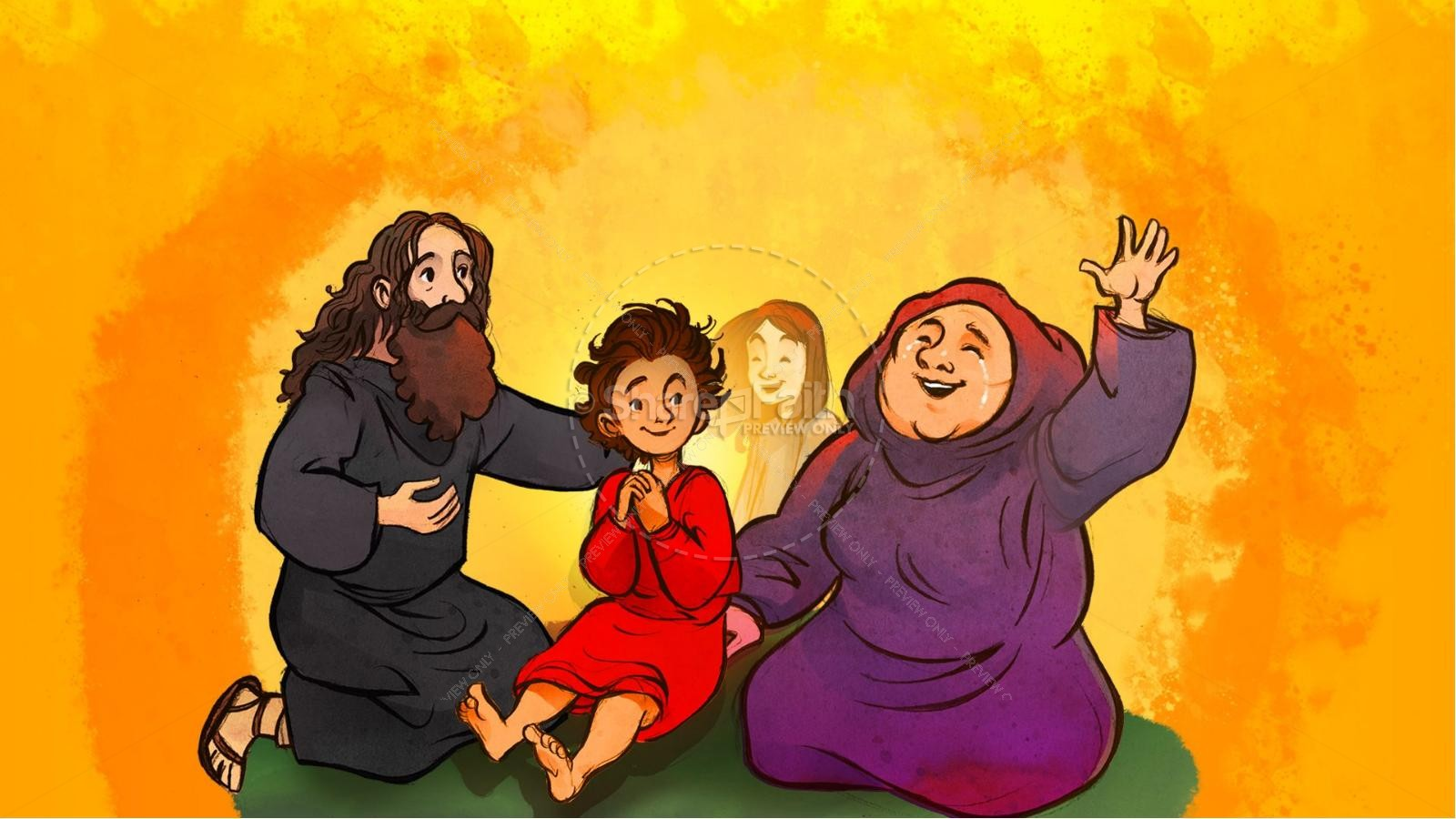 1 Kings 17 Elijah and the Widow Kids Bible Story   slide 8