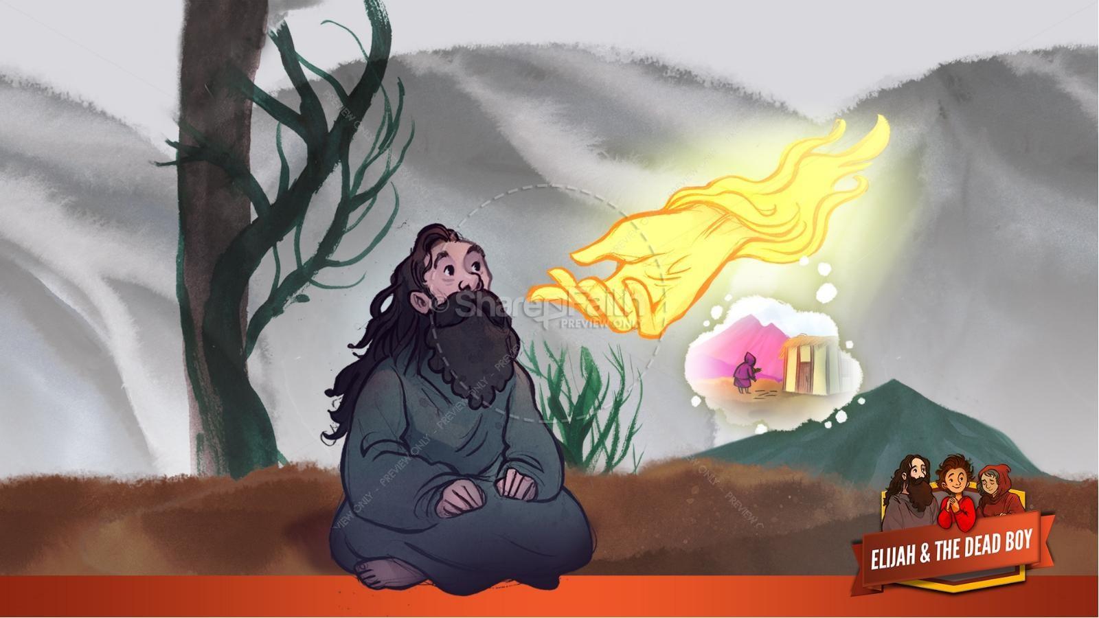 1 Kings 17 Elijah and the Widow Kids Bible Story | slide 10