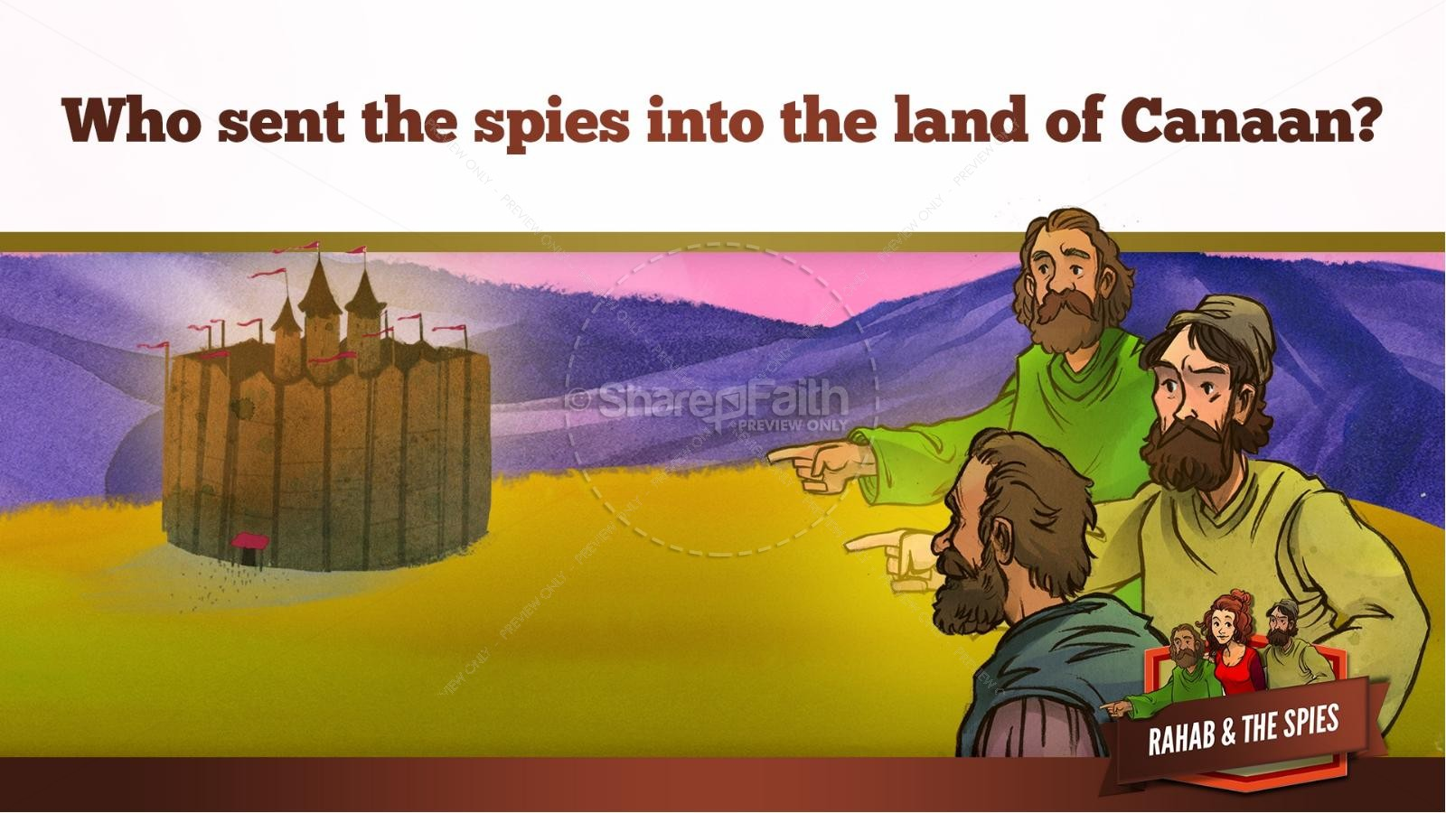 Joshua 2 The Story of Rahab Kids Bible Stories | slide 11