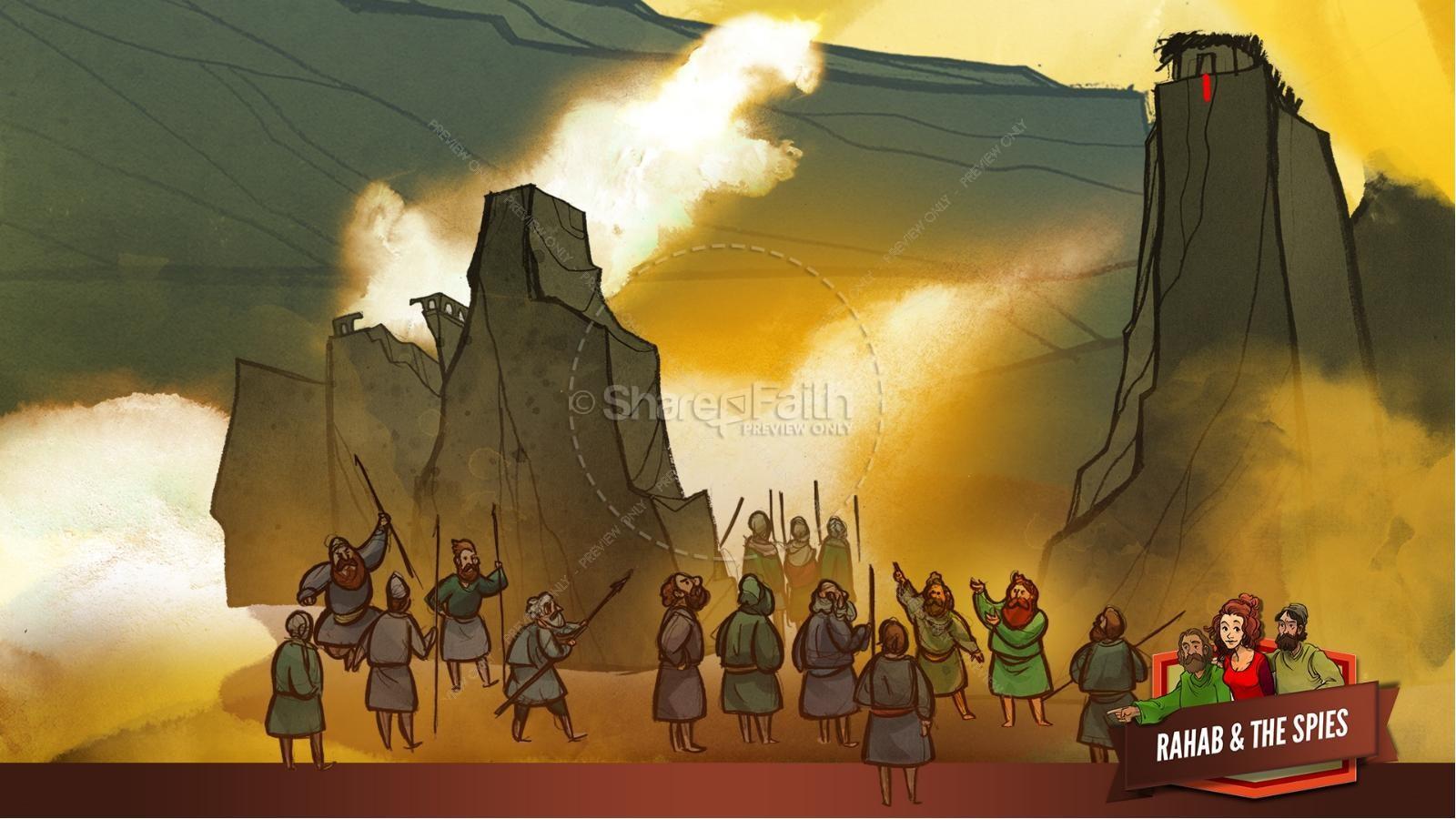 Joshua 2 The Story of Rahab Kids Bible Stories | slide 30