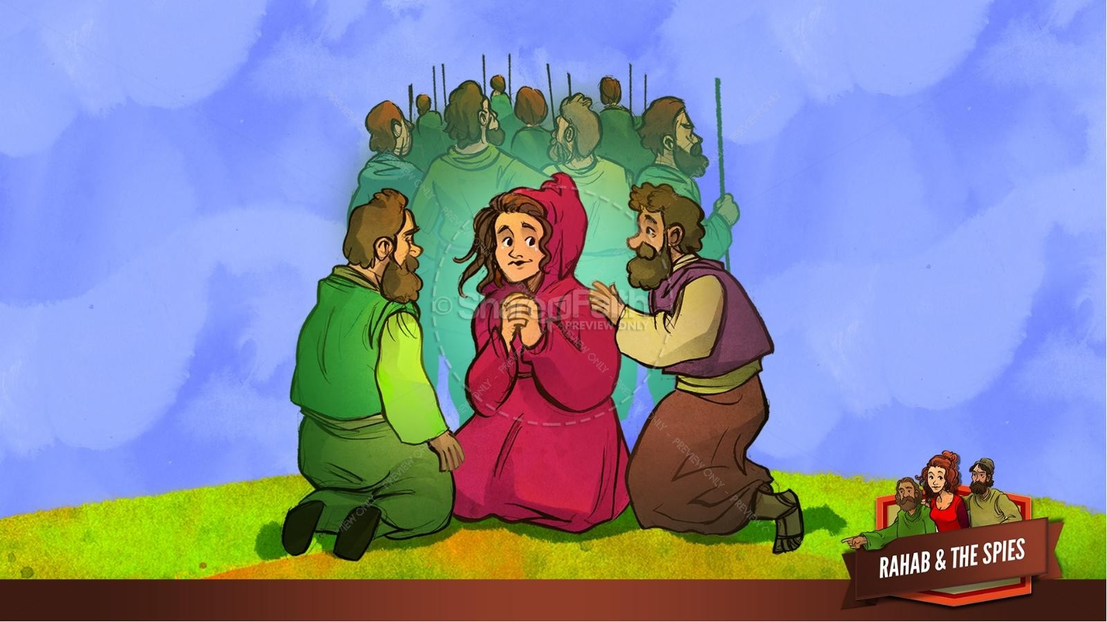 Joshua 2 The Story of Rahab Kids Bible Stories
