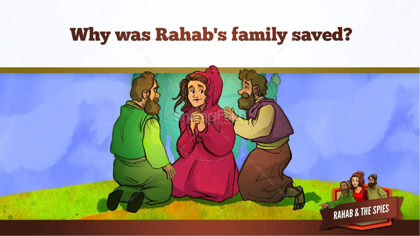 Joshua 2 The Story of Rahab Kids Bible Stories | slide 35