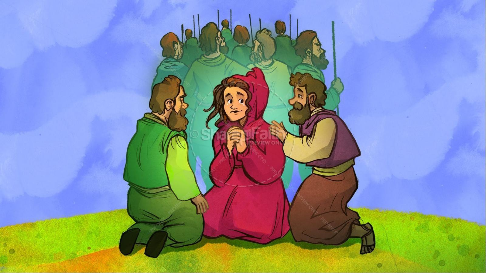 Joshua 2 The Story of Rahab Kids Bible Stories | slide 8