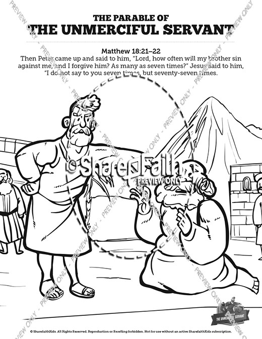 Matthew 18 The Parable of the Unforgiving Servant Sunday School