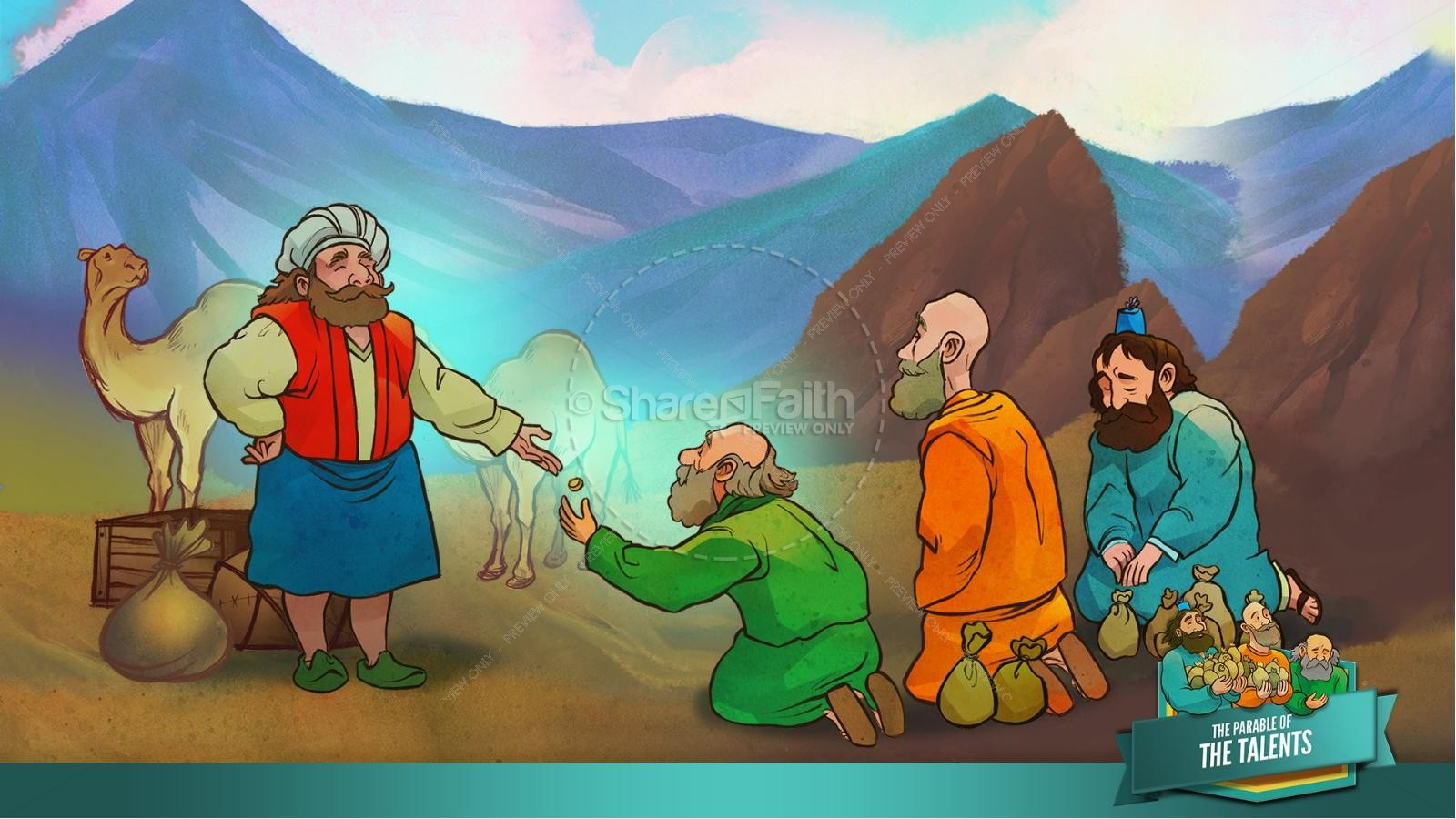 The Parable of the Talents Kids Bible Story