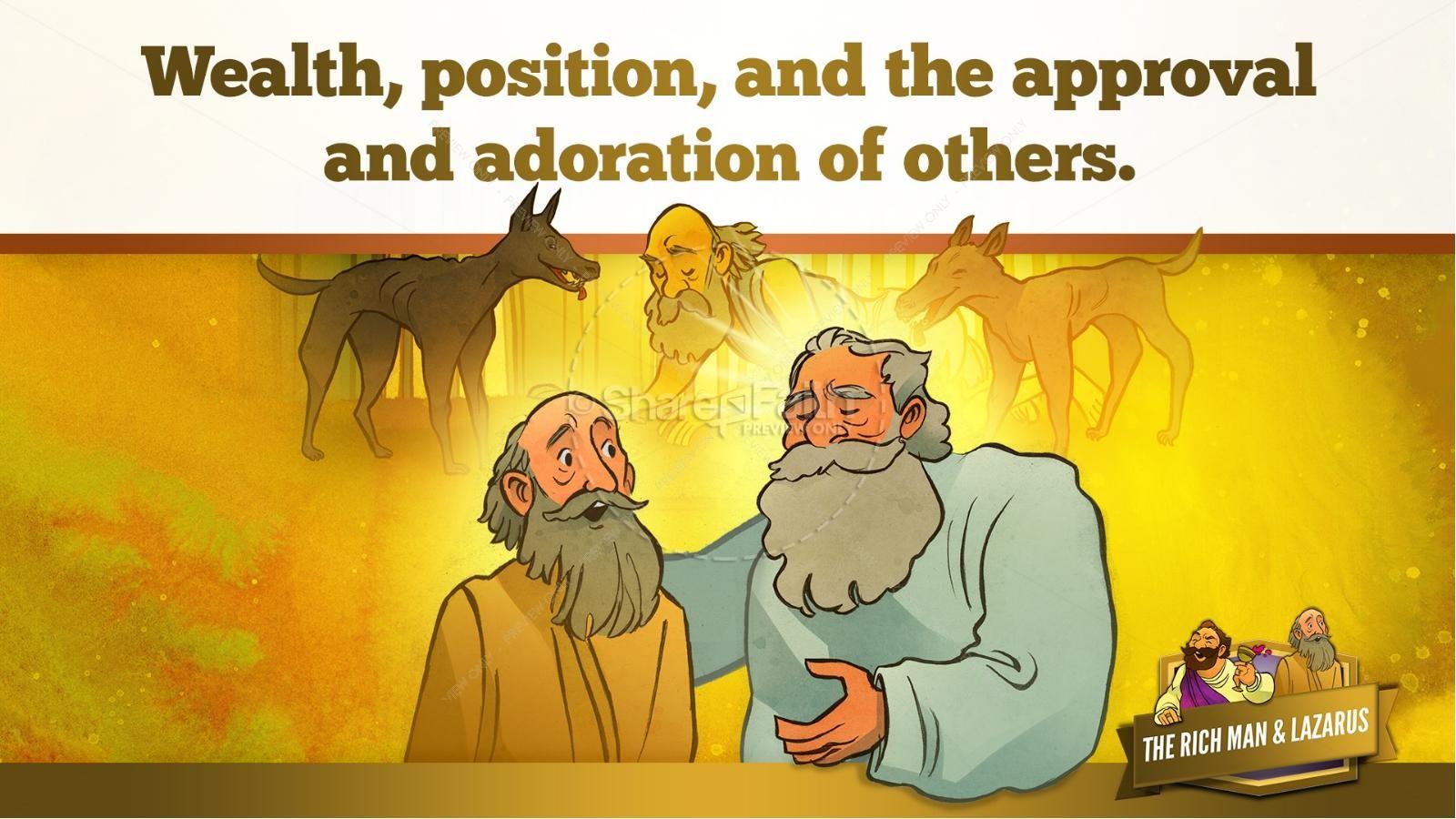 Luke 16 Lazarus and the Rich Man Kids Bible Story | slide 26