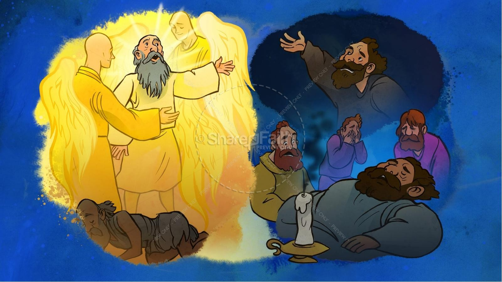 Luke 16 Lazarus and the Rich Man Kids Bible Story | slide 4