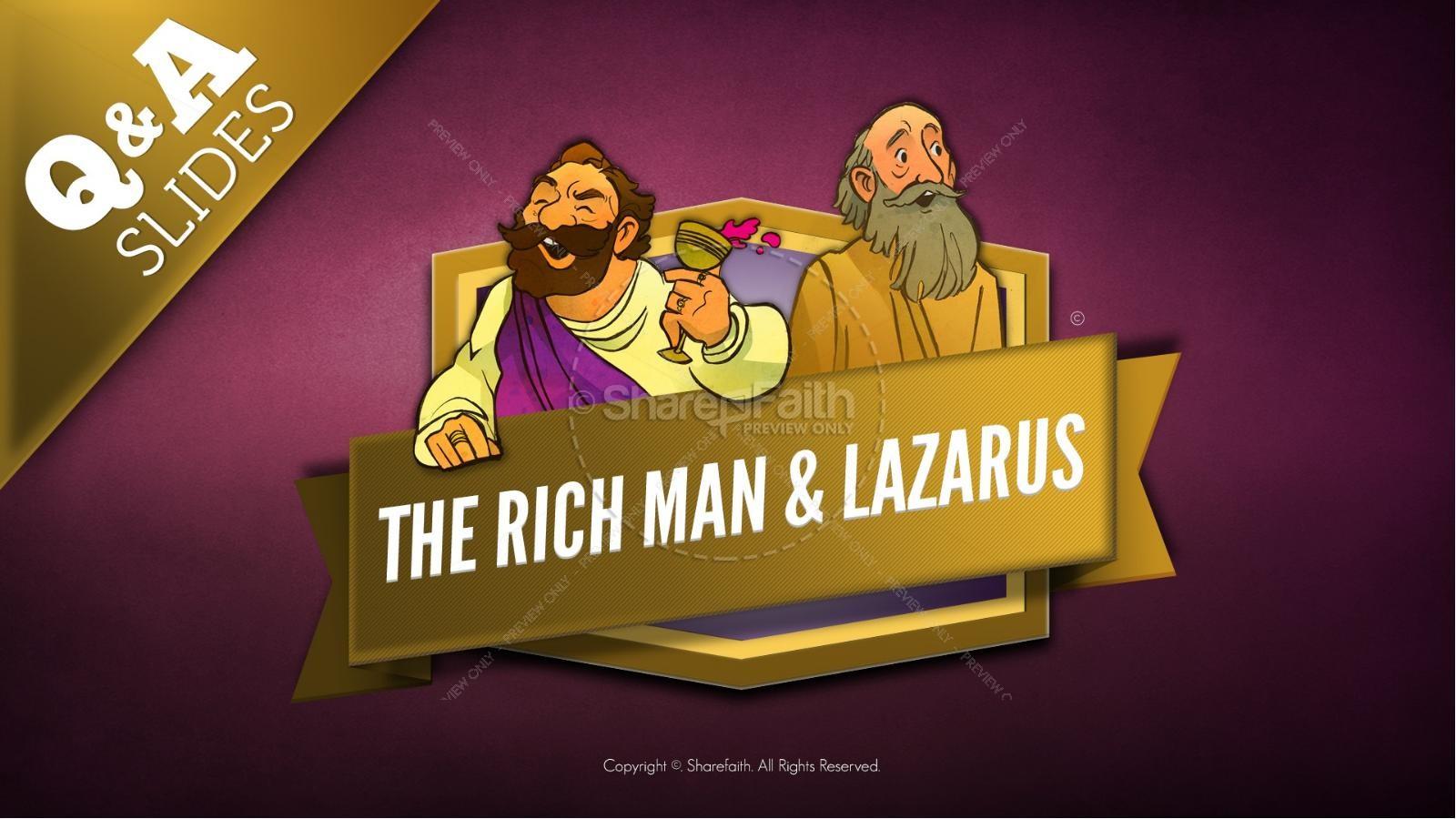 Luke 16 Lazarus and the Rich Man Kids Bible Story