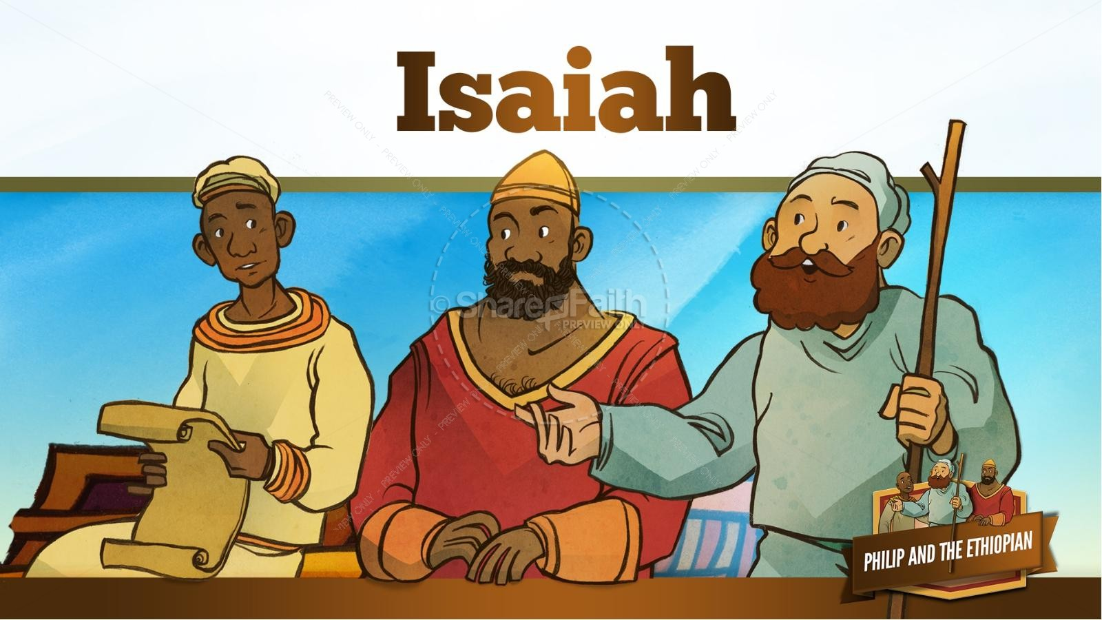 Acts 8 Philip and the Ethiopian Kids Bible Stories | slide 20