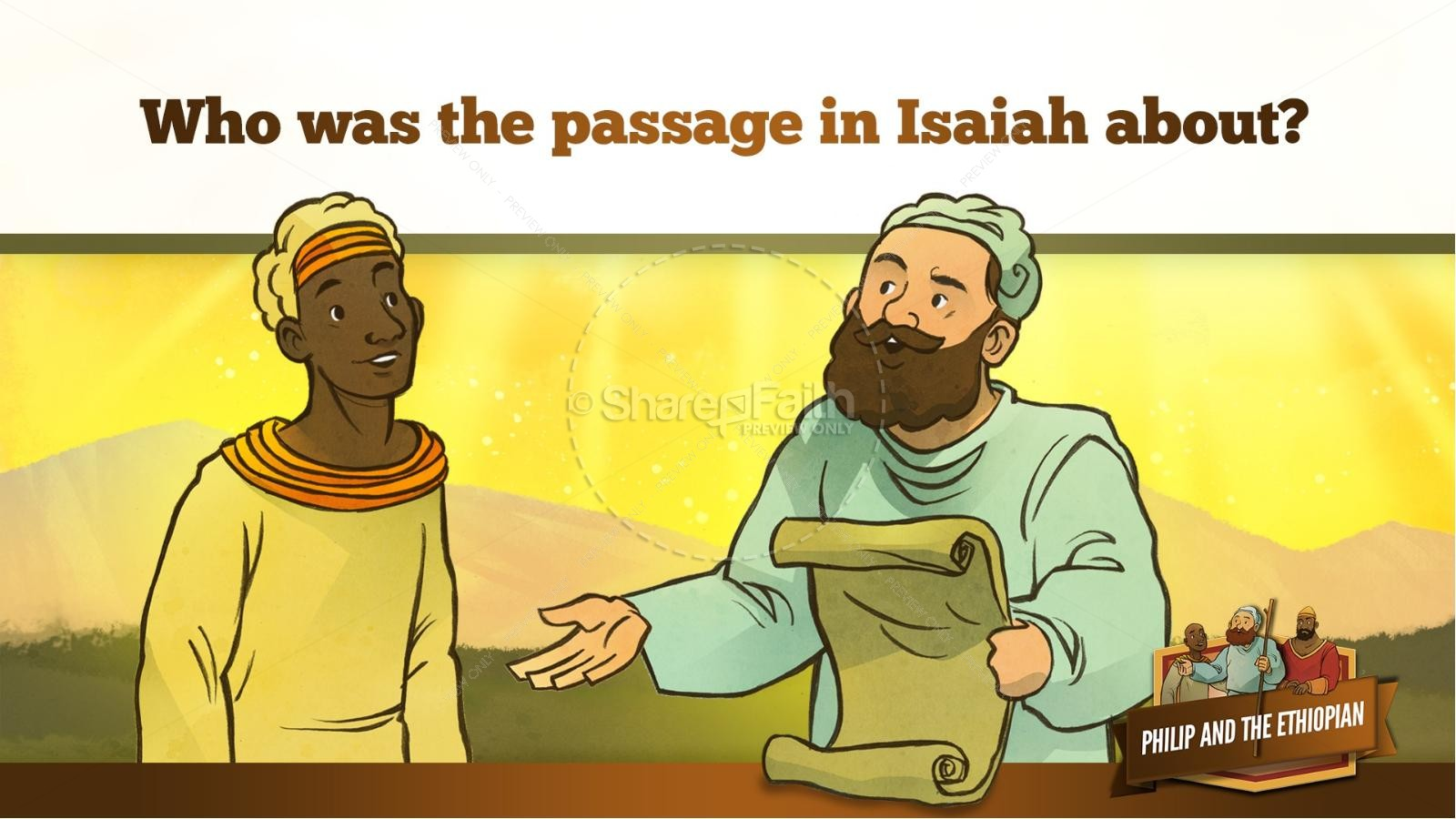 Acts 8 Philip and the Ethiopian Kids Bible Stories | slide 23