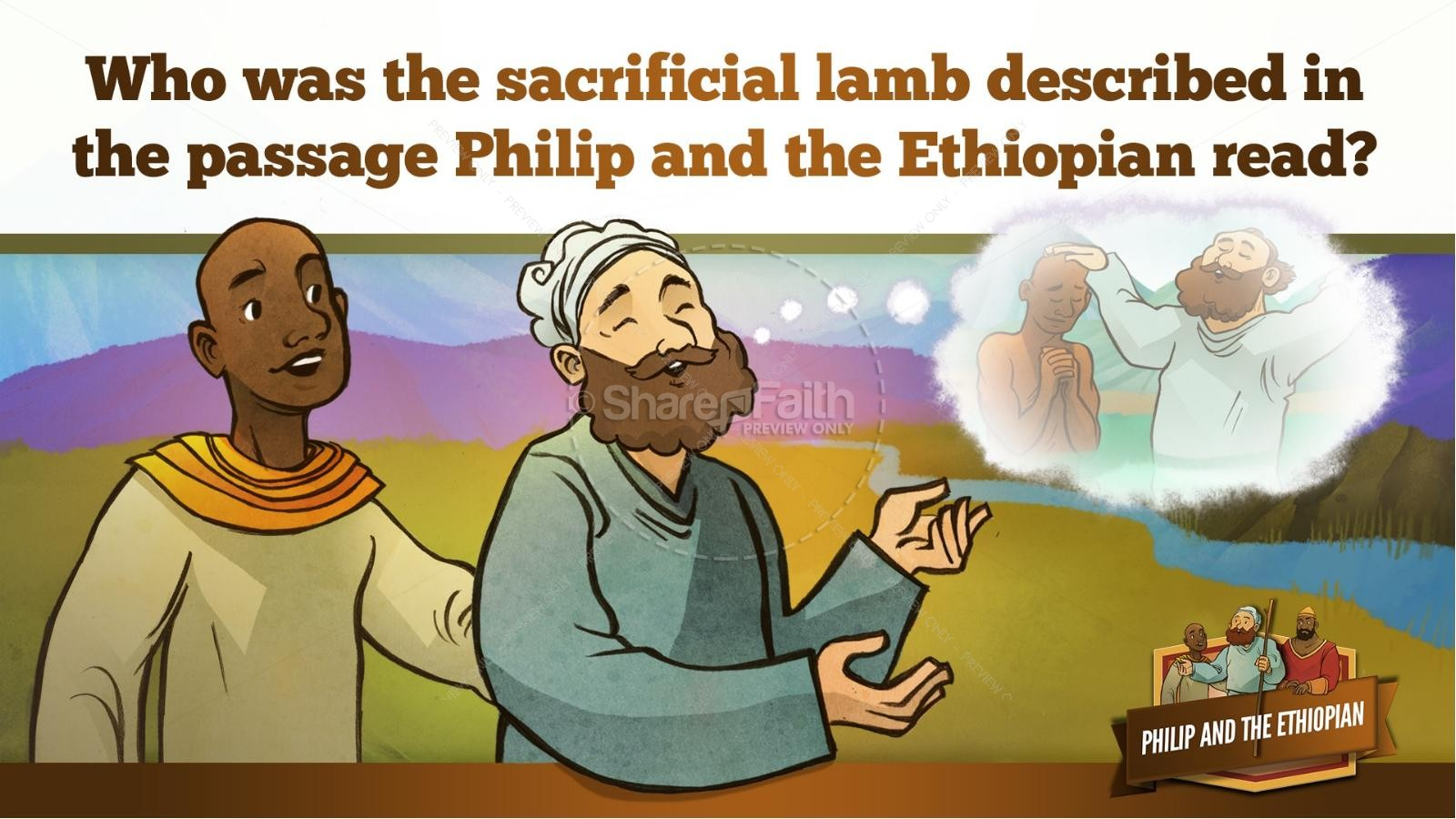 Acts 8 Philip and the Ethiopian Kids Bible Stories | slide 27