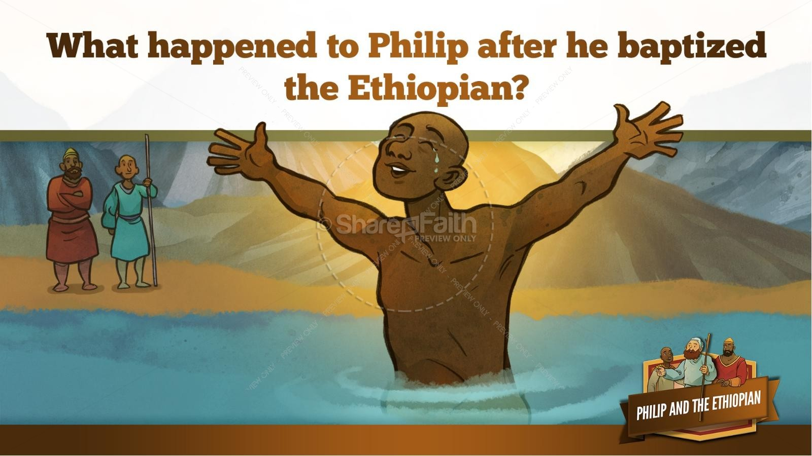 Acts 8 Philip and the Ethiopian Kids Bible Stories | slide 35