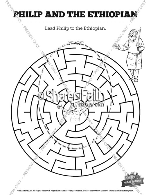 Acts 8 philip and the ethiopian sunday school coloring for Ethiopian eunuch coloring page