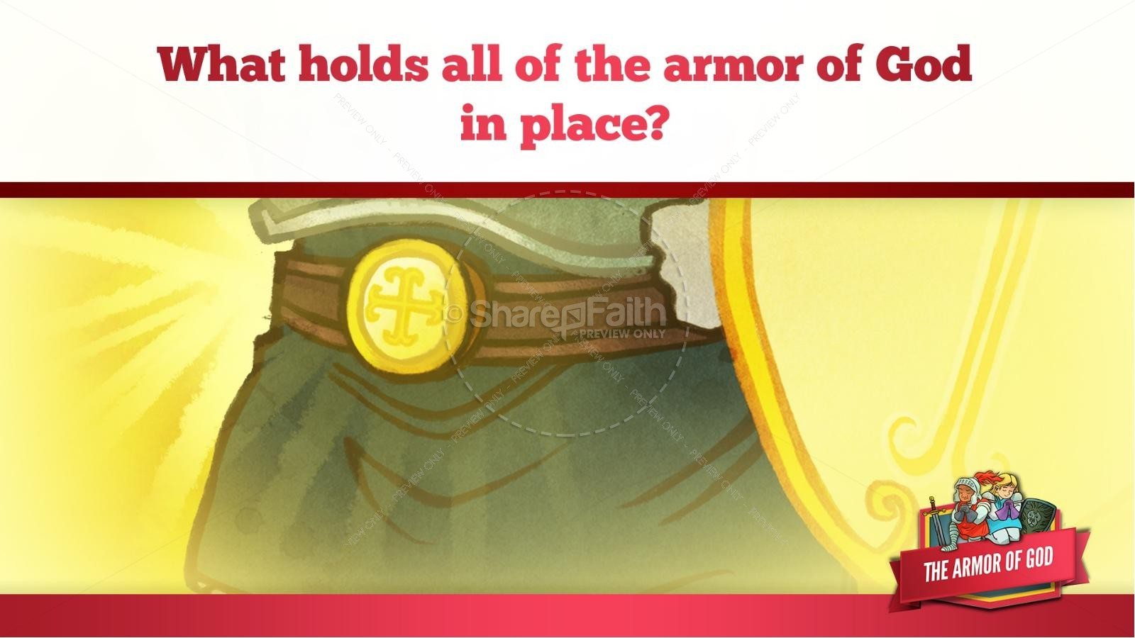 Ephesians 6 The Armor of God Kids Bible Story | slide 21