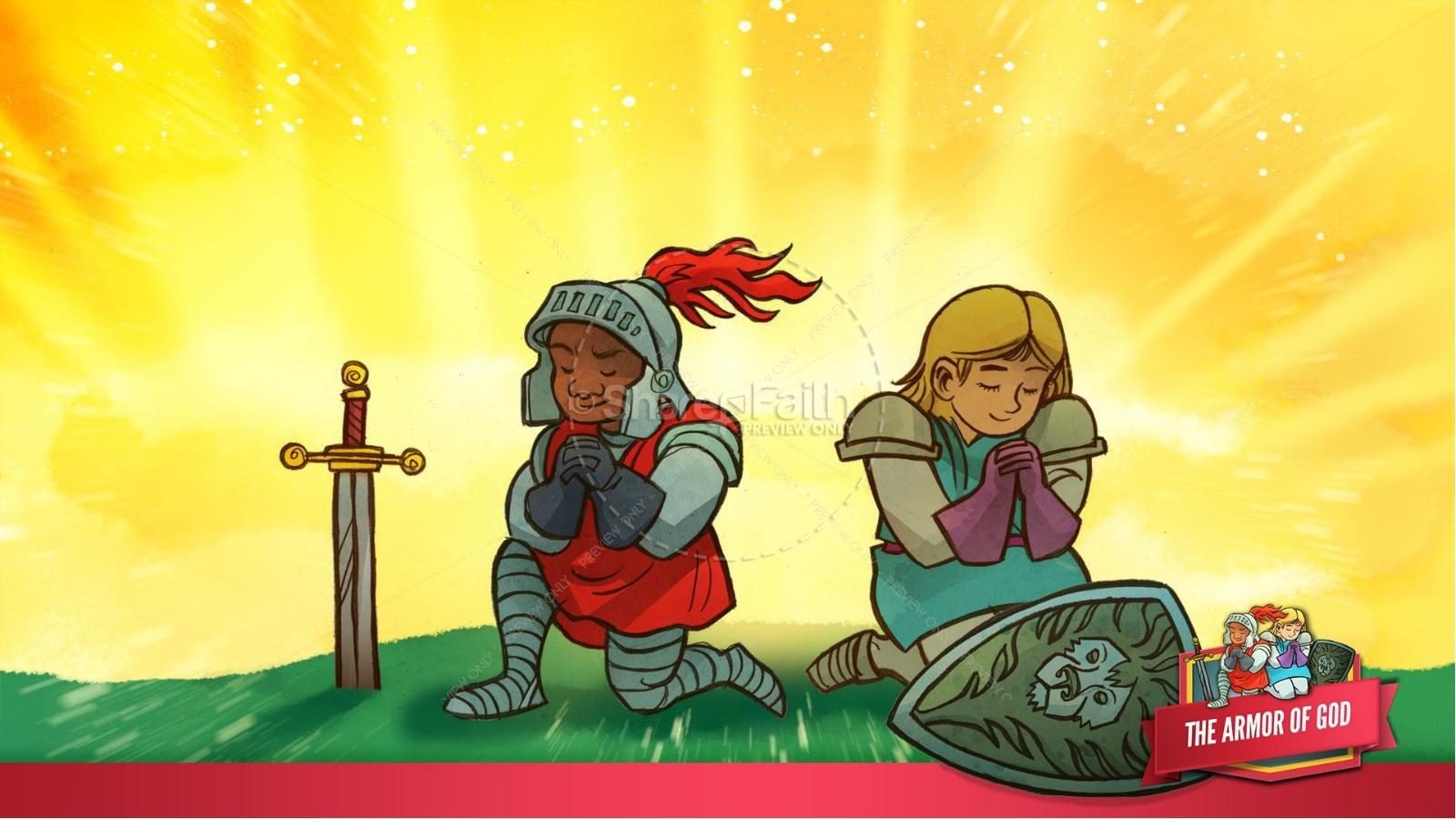 Ephesians 6 The Armor of God Kids Bible Story | slide 44