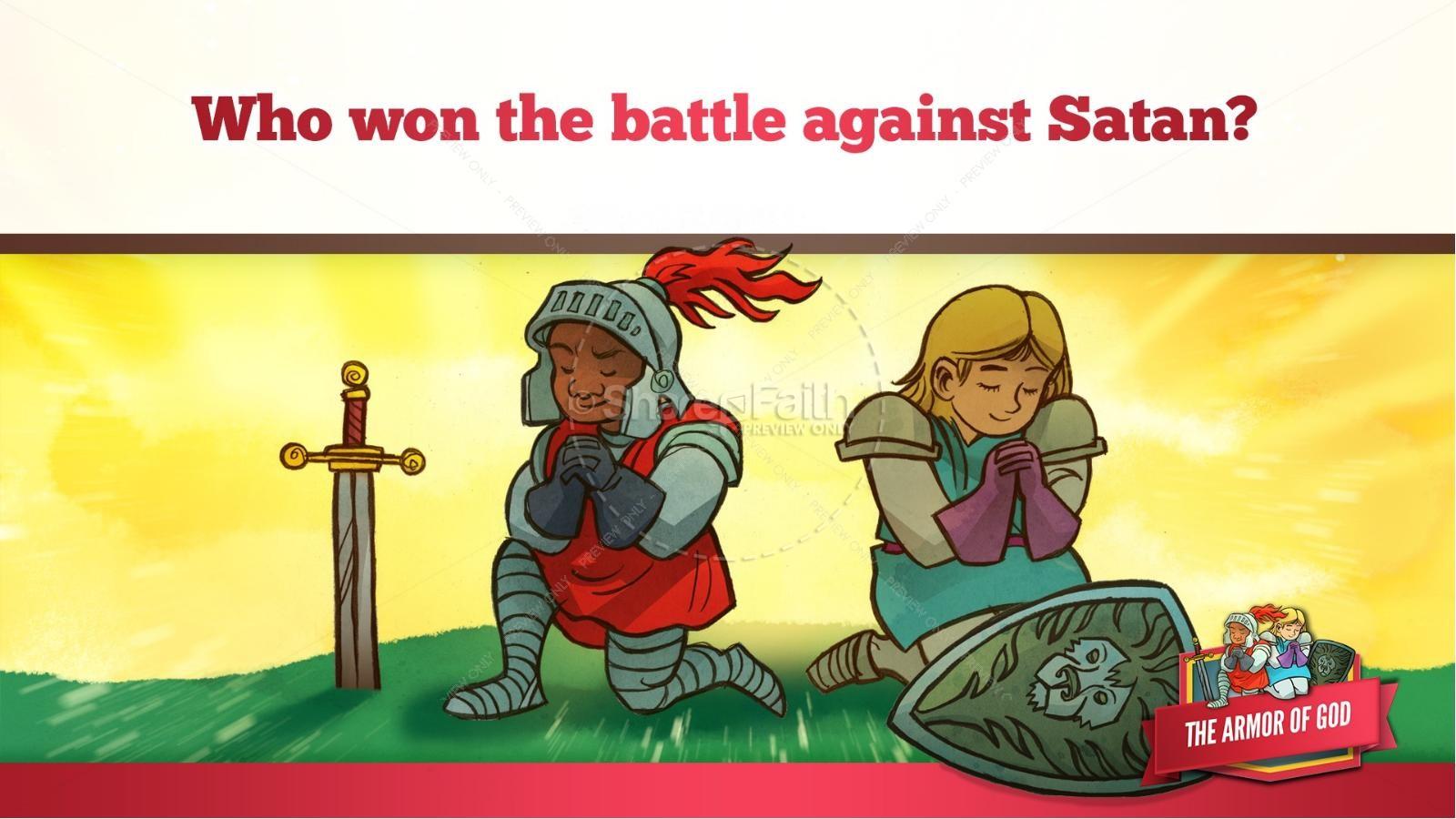 Ephesians 6 The Armor of God Kids Bible Story | slide 45