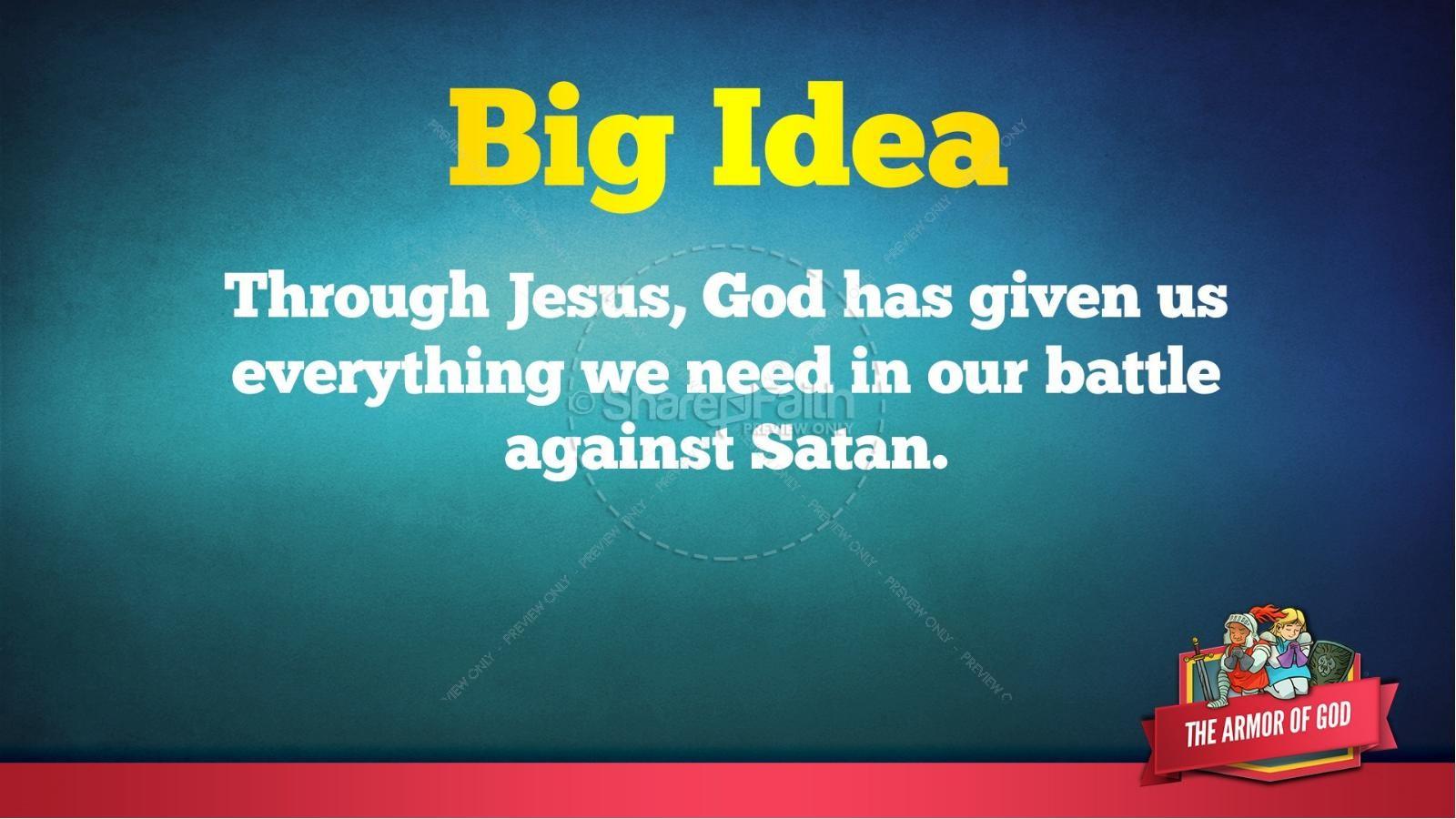 Ephesians 6 The Armor of God Kids Bible Story | slide 48