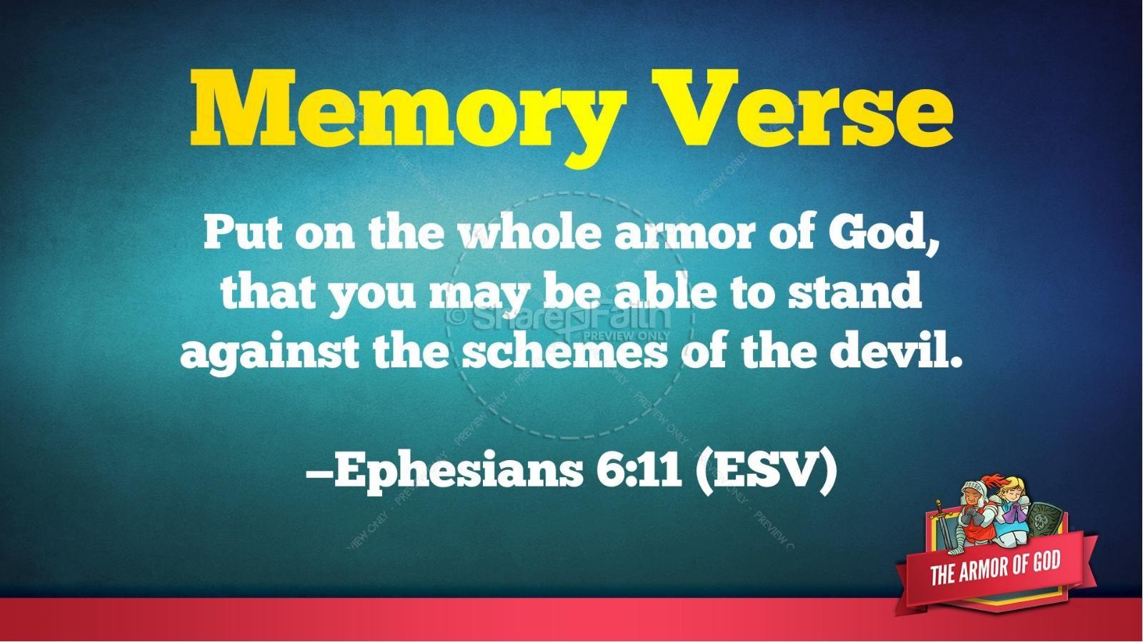 Ephesians 6 The Armor of God Kids Bible Story | slide 49