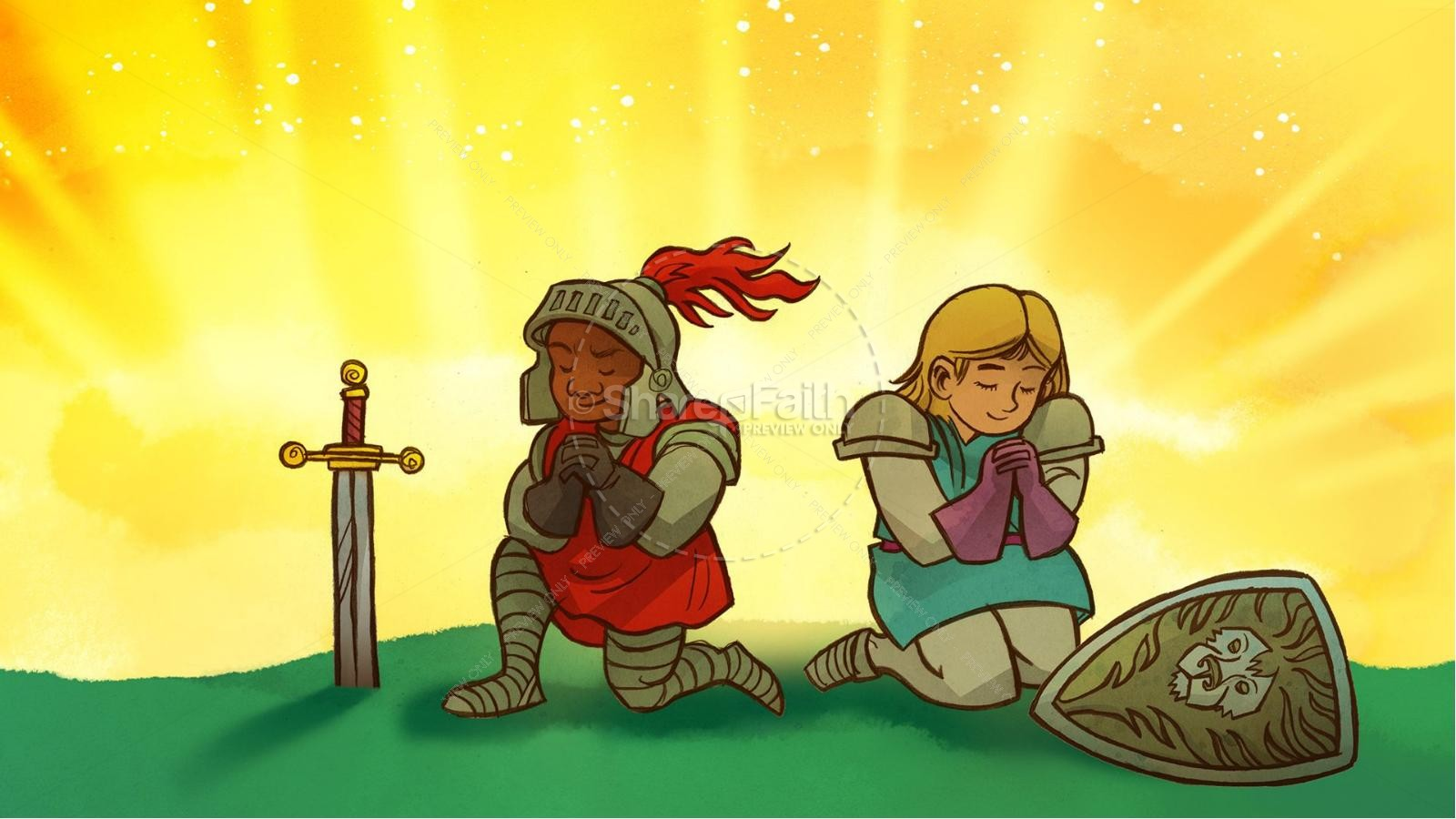 Ephesians 6 The Armor of God Kids Bible Story | slide 10