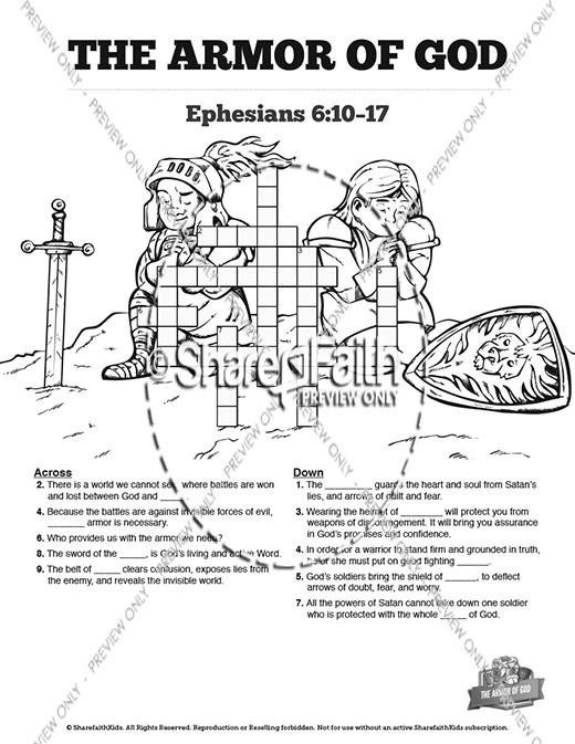 The Armor of God Bible Mazes | Bible Mazes