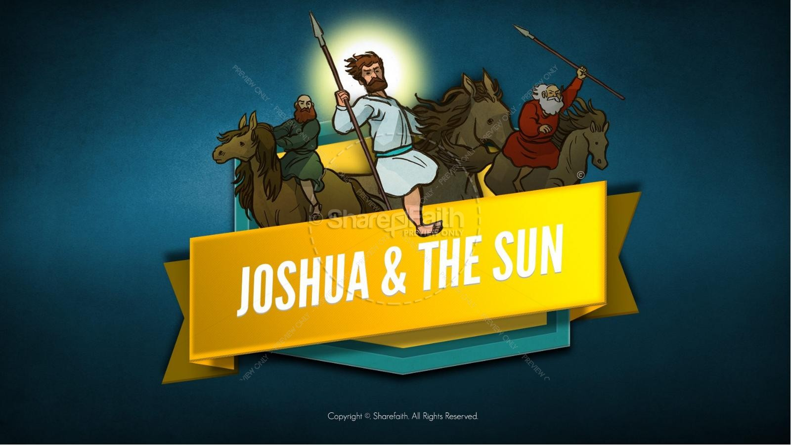 Joshua 10 Sun Stand Still Kids Bible Story | slide 1