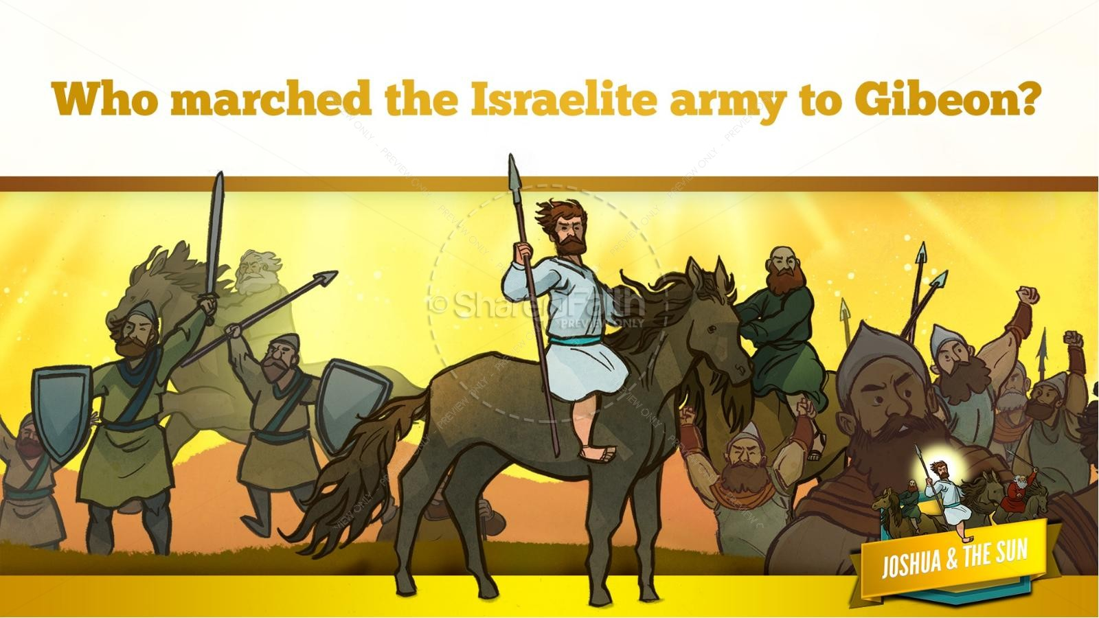 Joshua 10 Sun Stand Still Kids Bible Story | slide 17