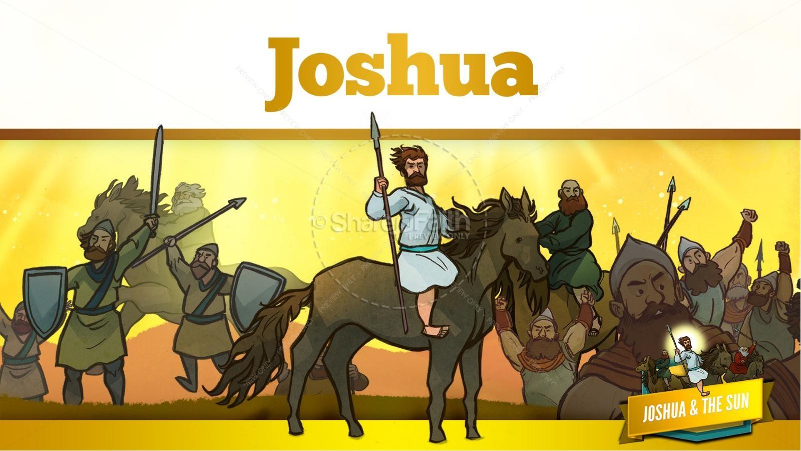 Joshua 10 Sun Stand Still Kids Bible Story | slide 18