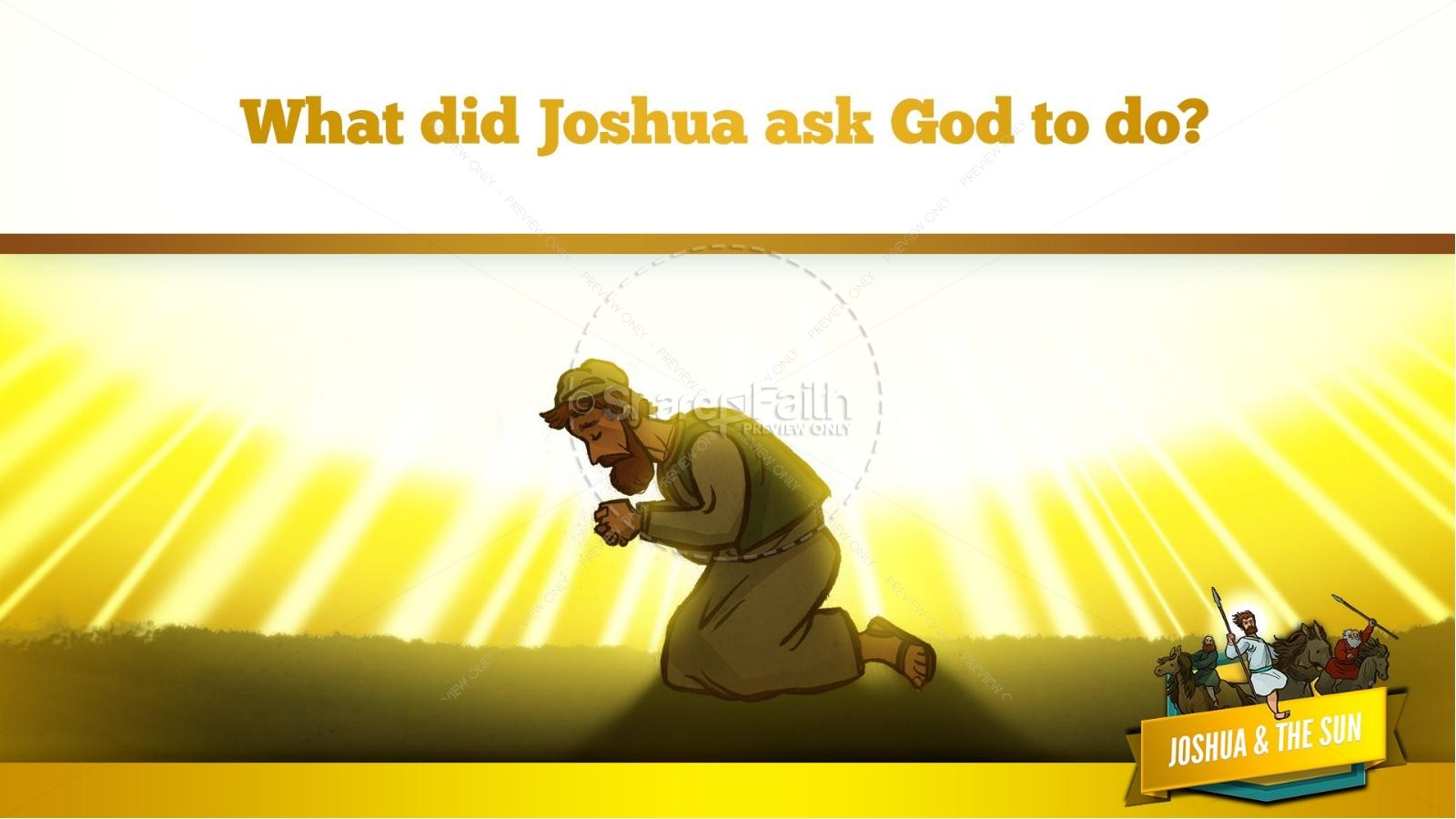 Joshua 10 Sun Stand Still Kids Bible Story | slide 25